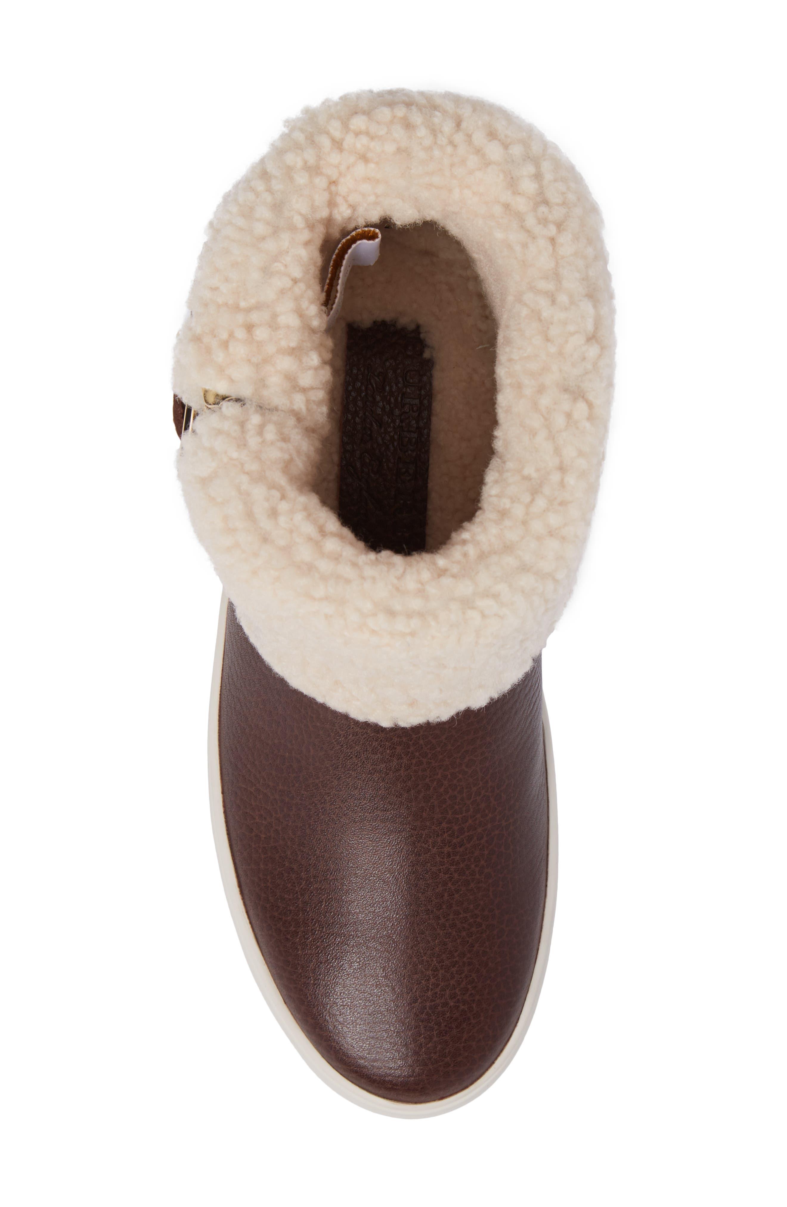 Alternate Image 4  - Burberry Genuine Shearling Boot (Women)
