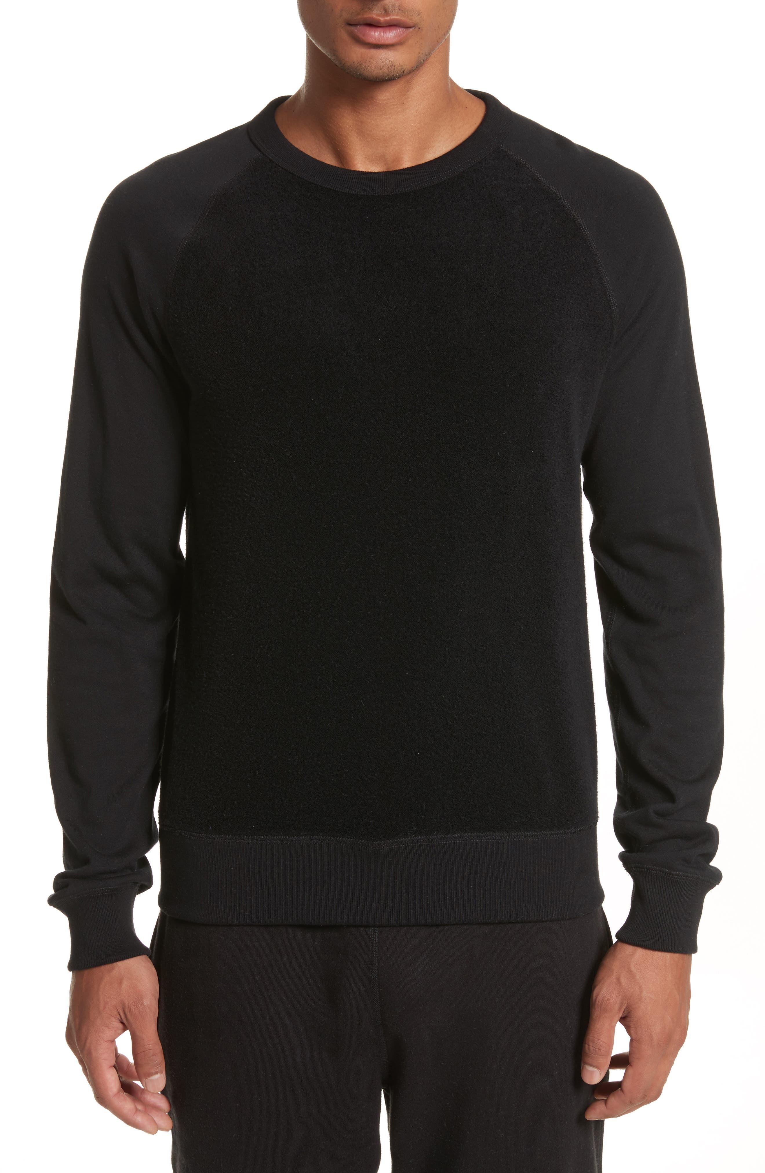 Textured Crewneck Pullover,                         Main,                         color, Black