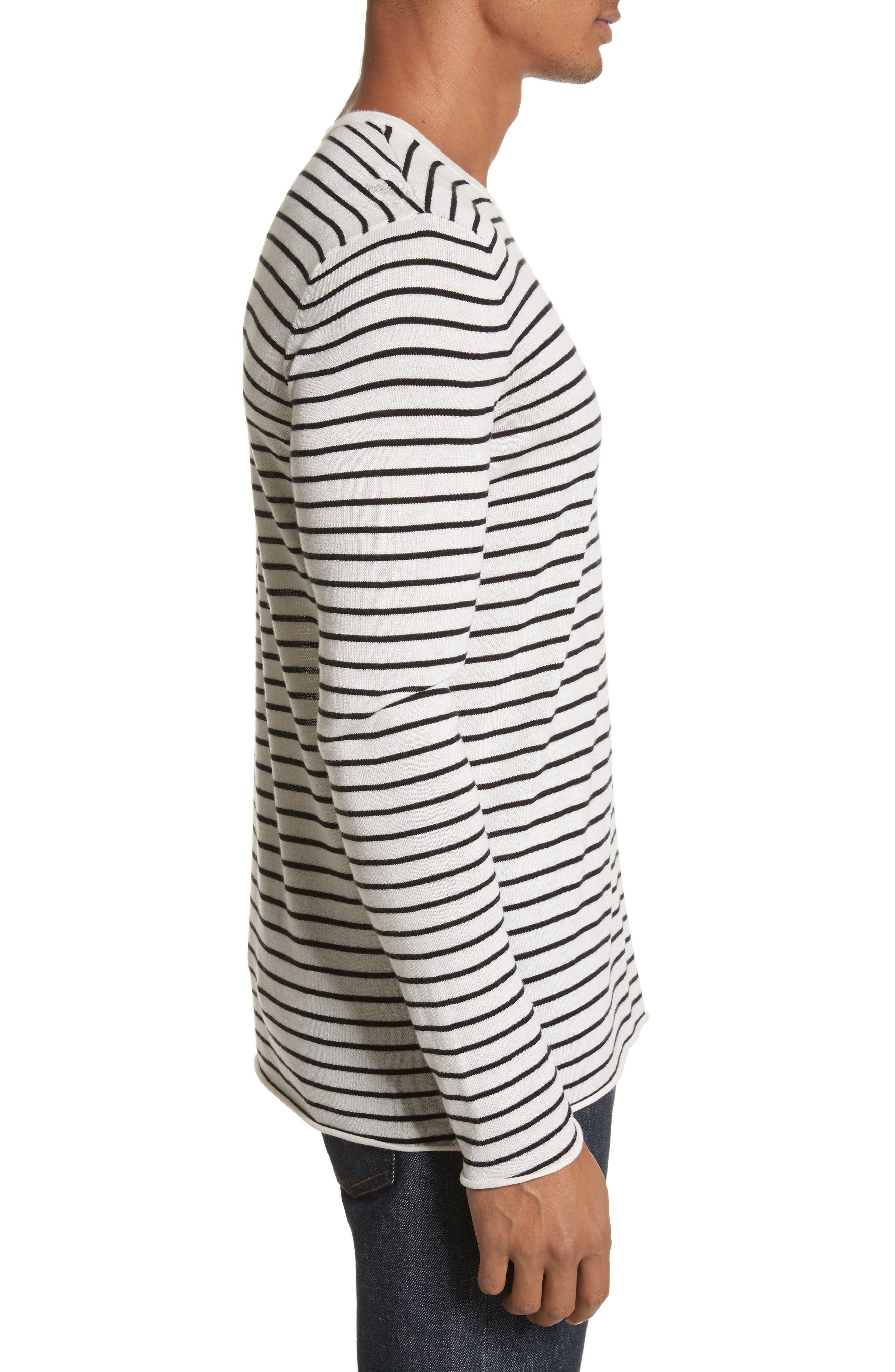 Alternate Image 3  - ATM Anthony Thomas Melillo Stripe Silk Blend Sweater