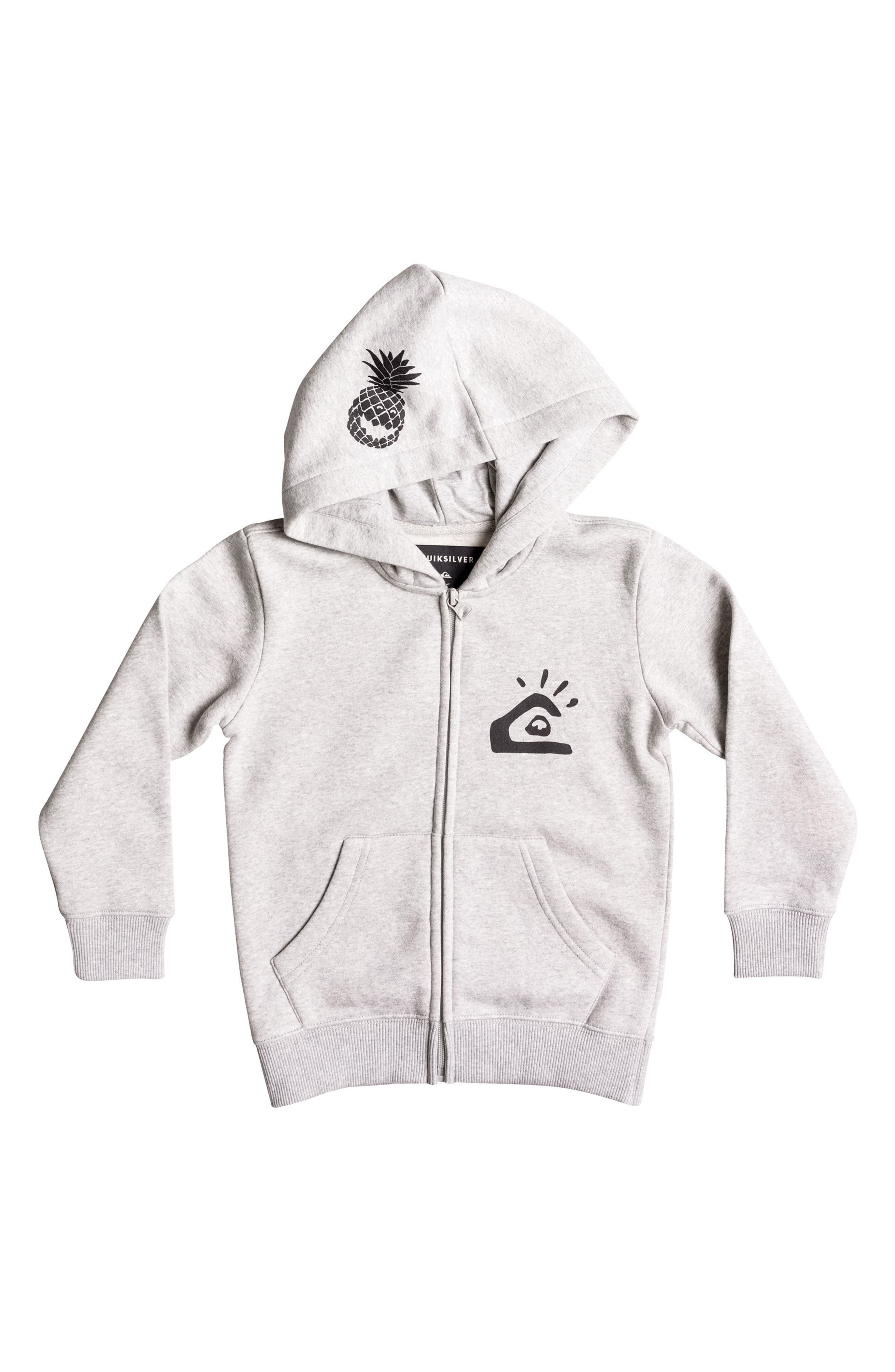 Quiksilver Lemon Smile Graphic Zip Hoodie (Toddler Boys & Little Boys)