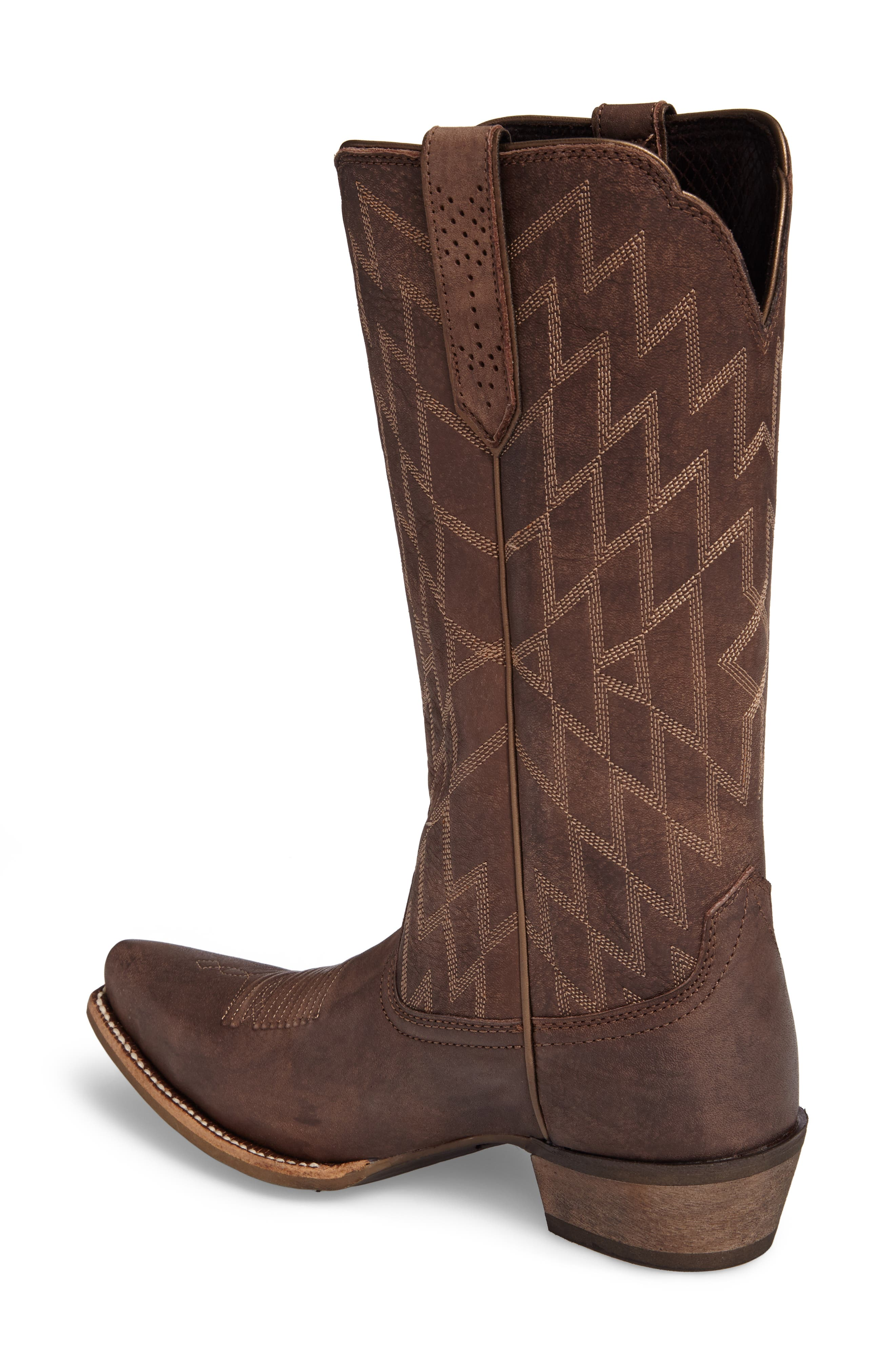Heritage Southwestern X-Toe Boot,                             Alternate thumbnail 2, color,                             Tack Room Chocolate Leather