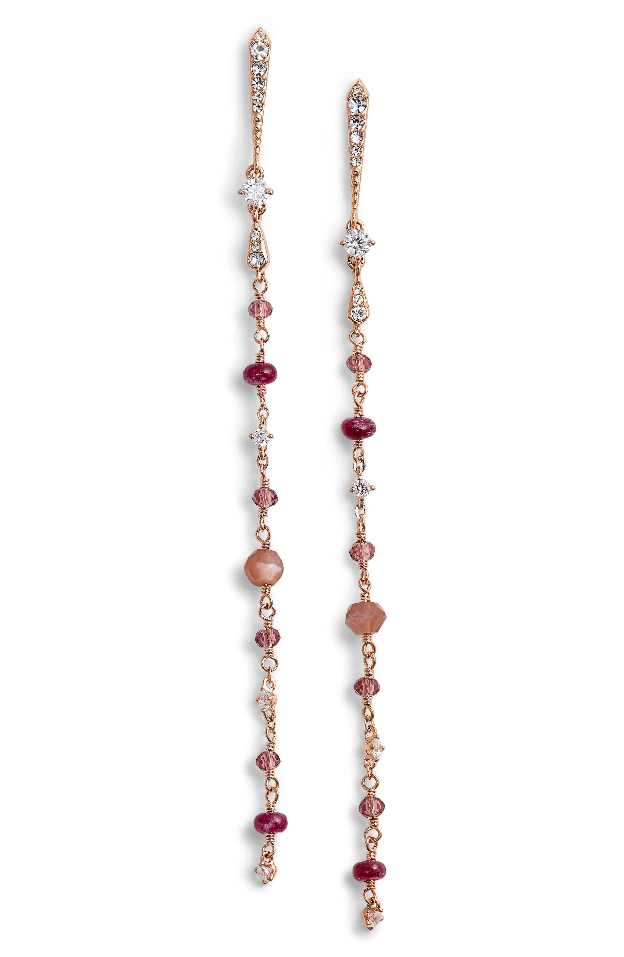 Nadri Crystal & Semiprecious Stone Drop Earrings