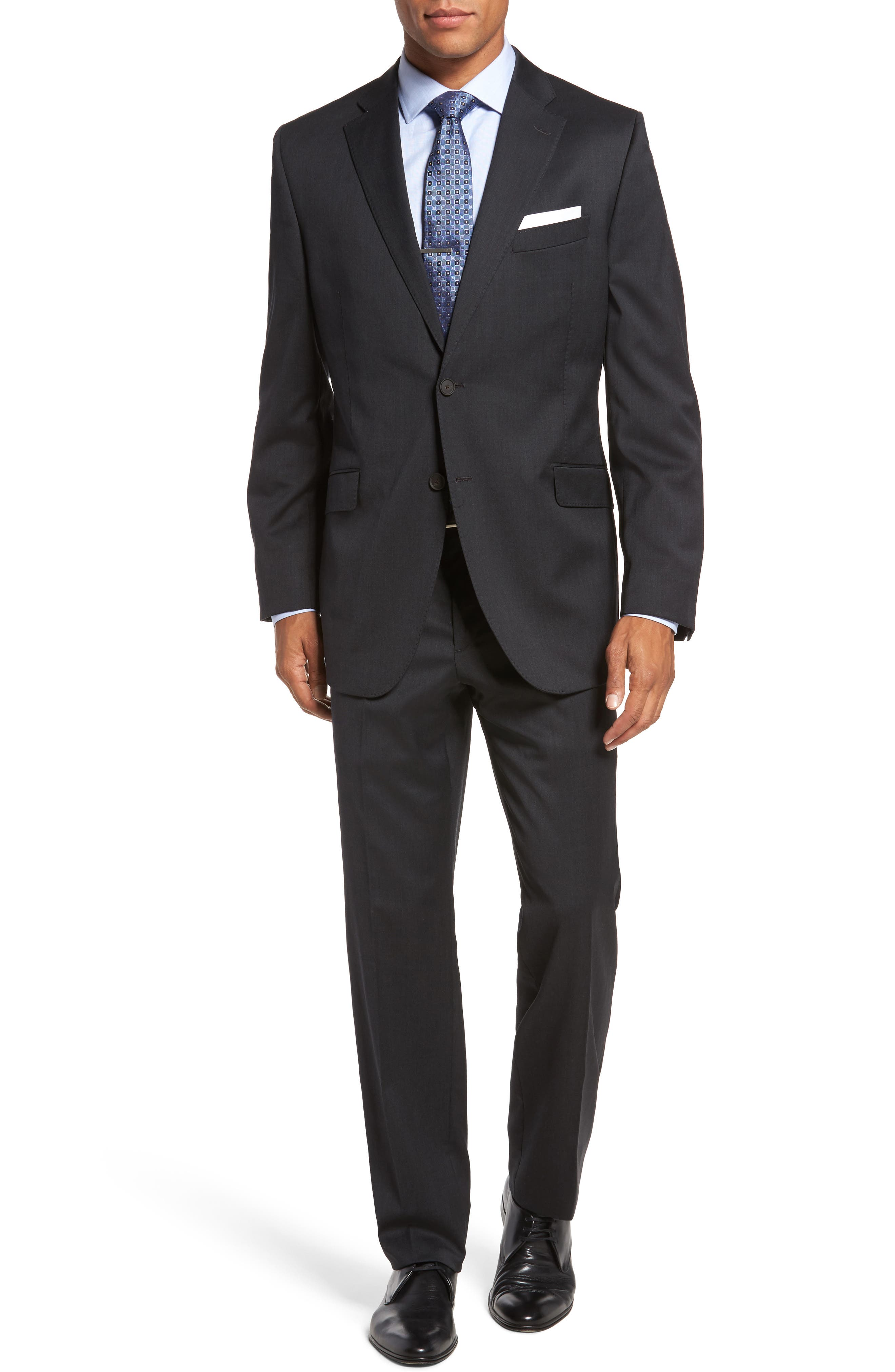 Keidis Aim Classic Fit Stretch Wool Suit,                         Main,                         color, Charcoal