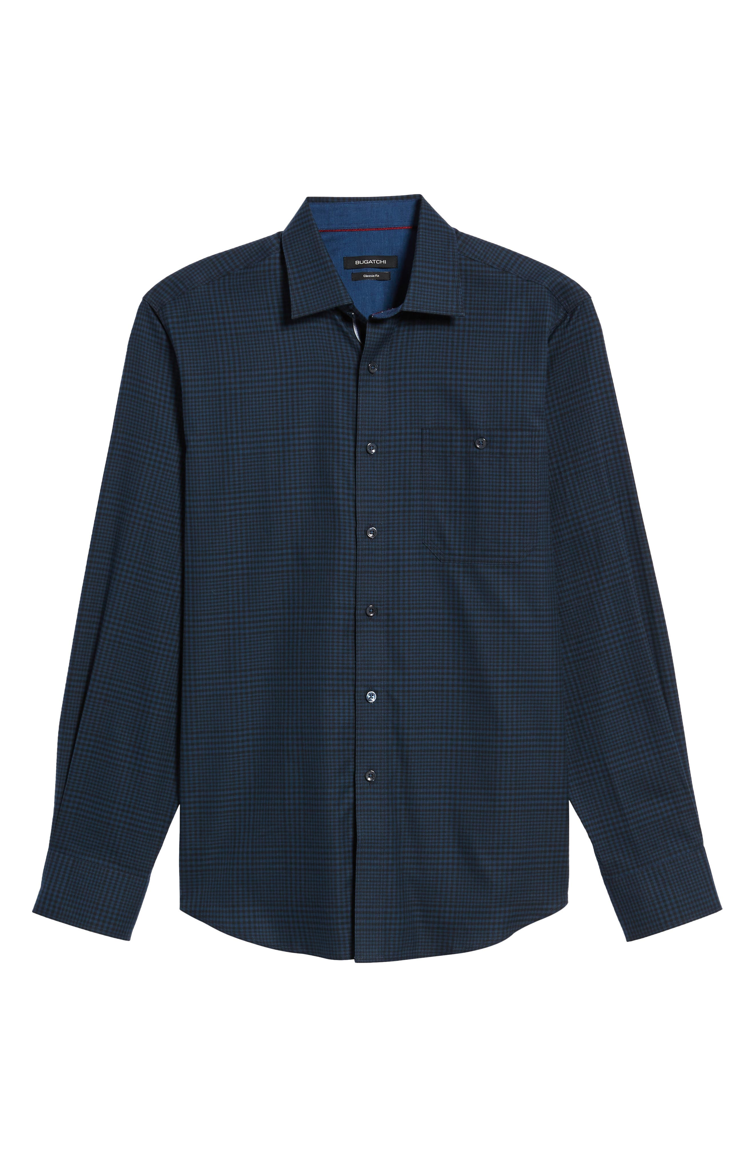 Alternate Image 6  - Bugatchi Classic Fit Glen Plaid Sport Shirt