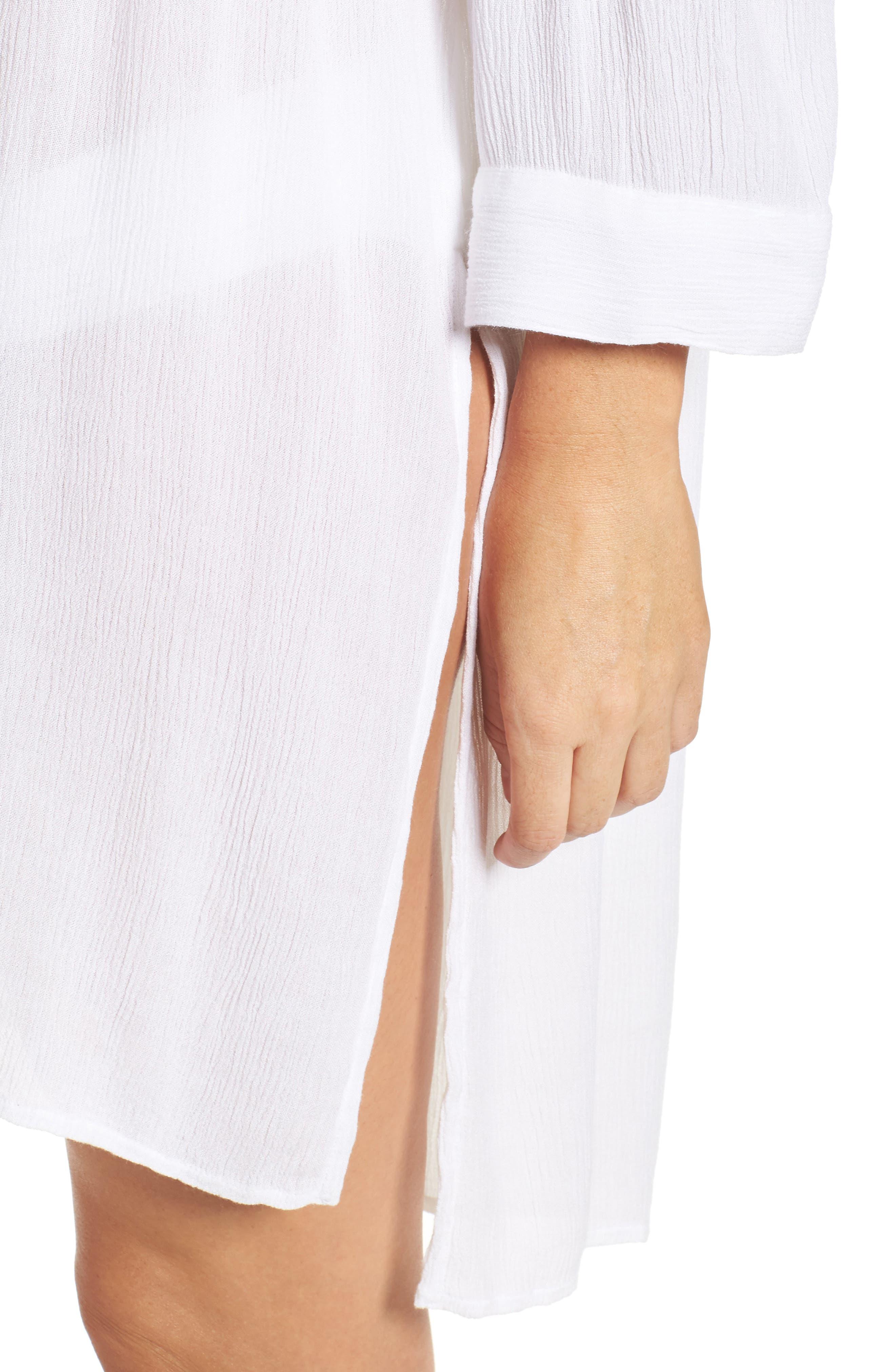 Alternate Image 4  - Elan Cold-Shoulder Cover-Up