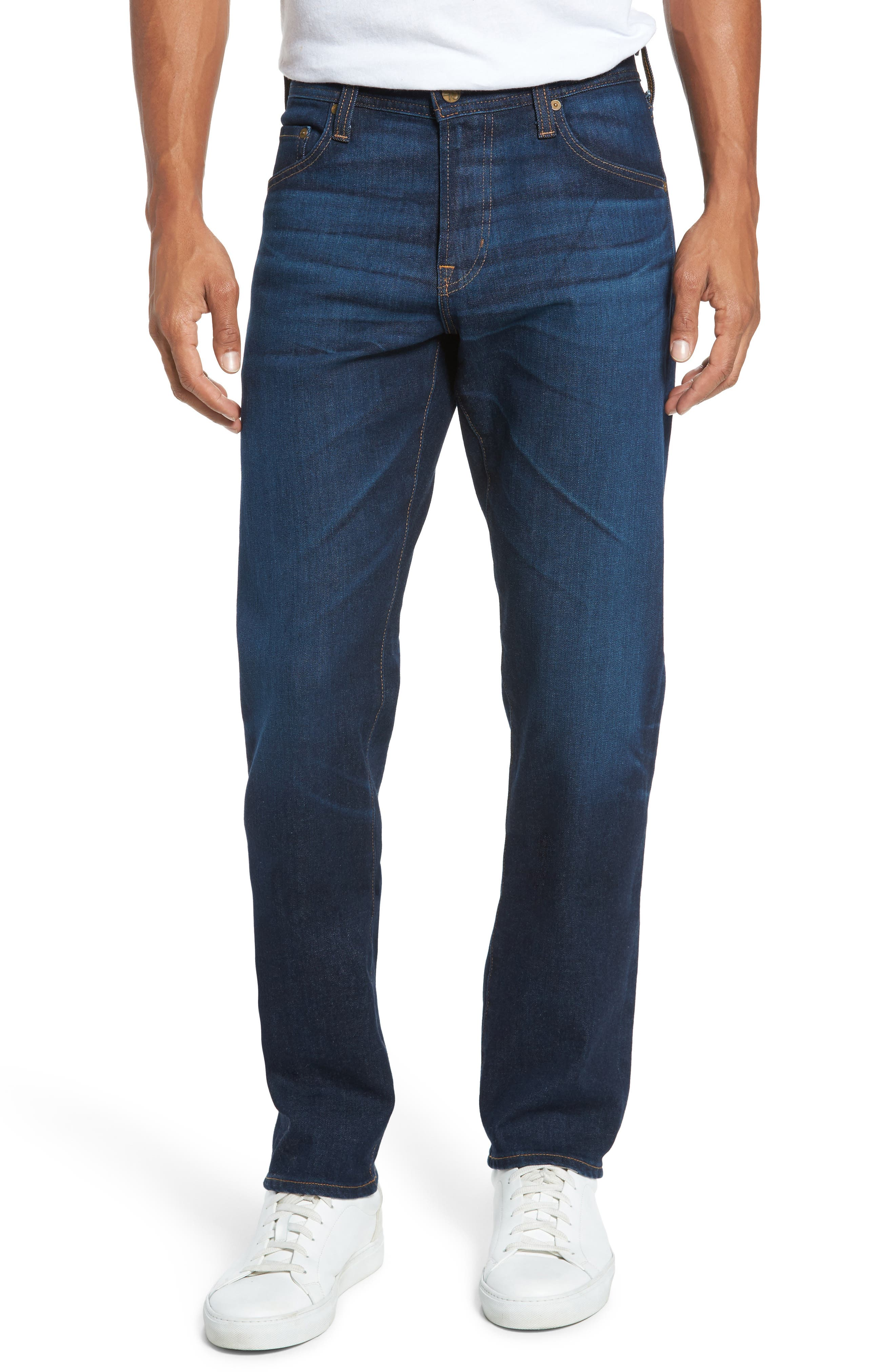 Alternate Image 1 Selected - AG Graduate Slim Straight Fit Jeans (5 Years Porter)