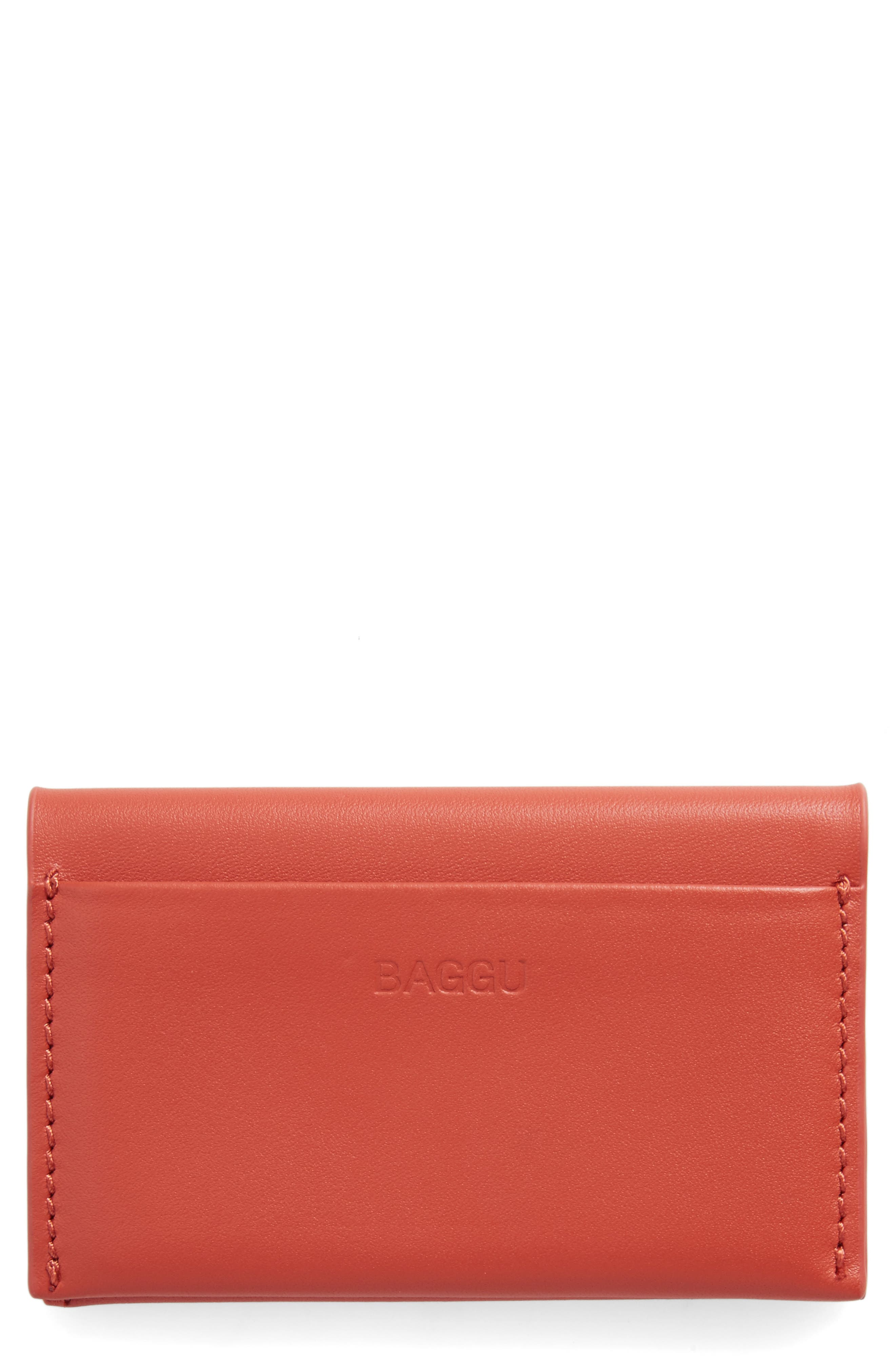 Alternate Image 1 Selected - Baggu Leather Card Case