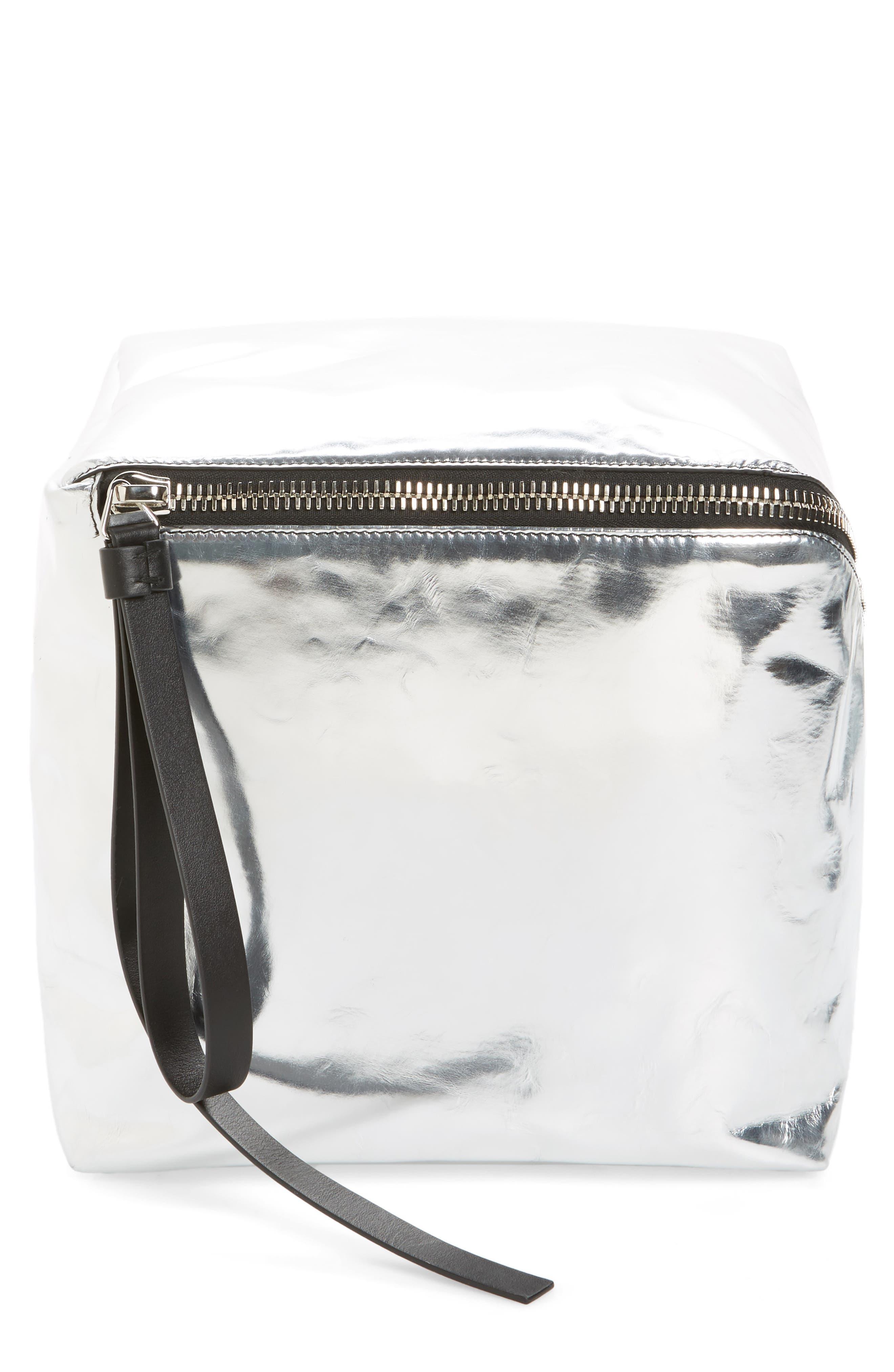 Proenza Schouler Soft Metallic Leather Cube Bag