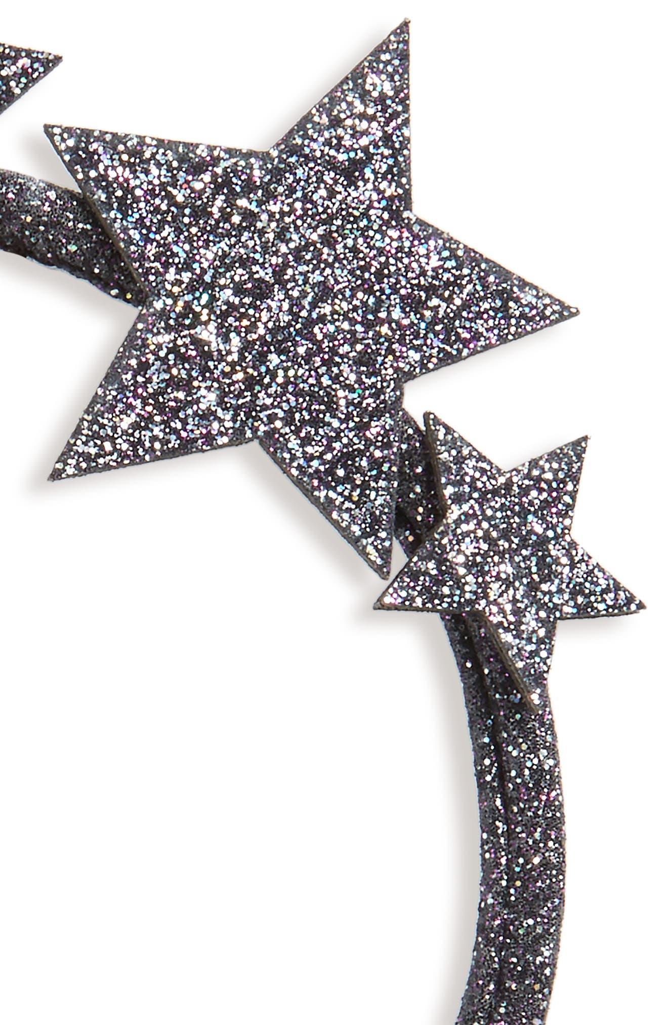 Alternate Image 2  - Wild and Gorgeous Glitter Star Headband (Girls)