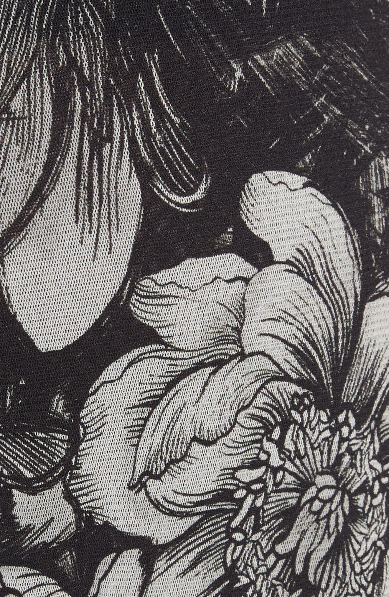 Print Tulle Wide Leg Pants,                             Alternate thumbnail 6, color,                             Nero