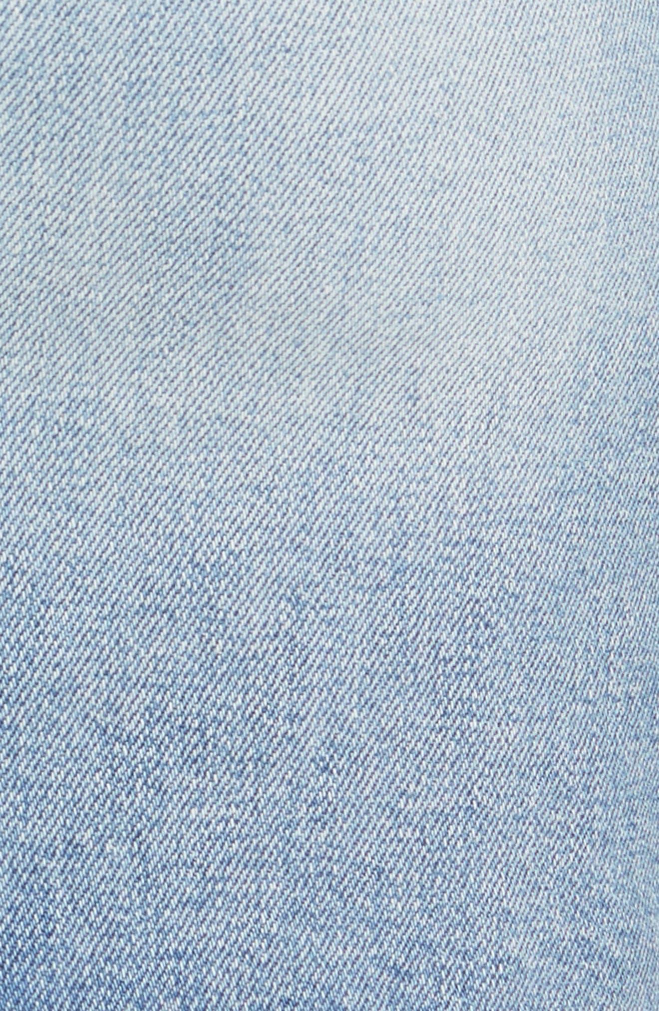 Alternate Image 5  - MOTHER The Sacred Slit Denim Miniskirt