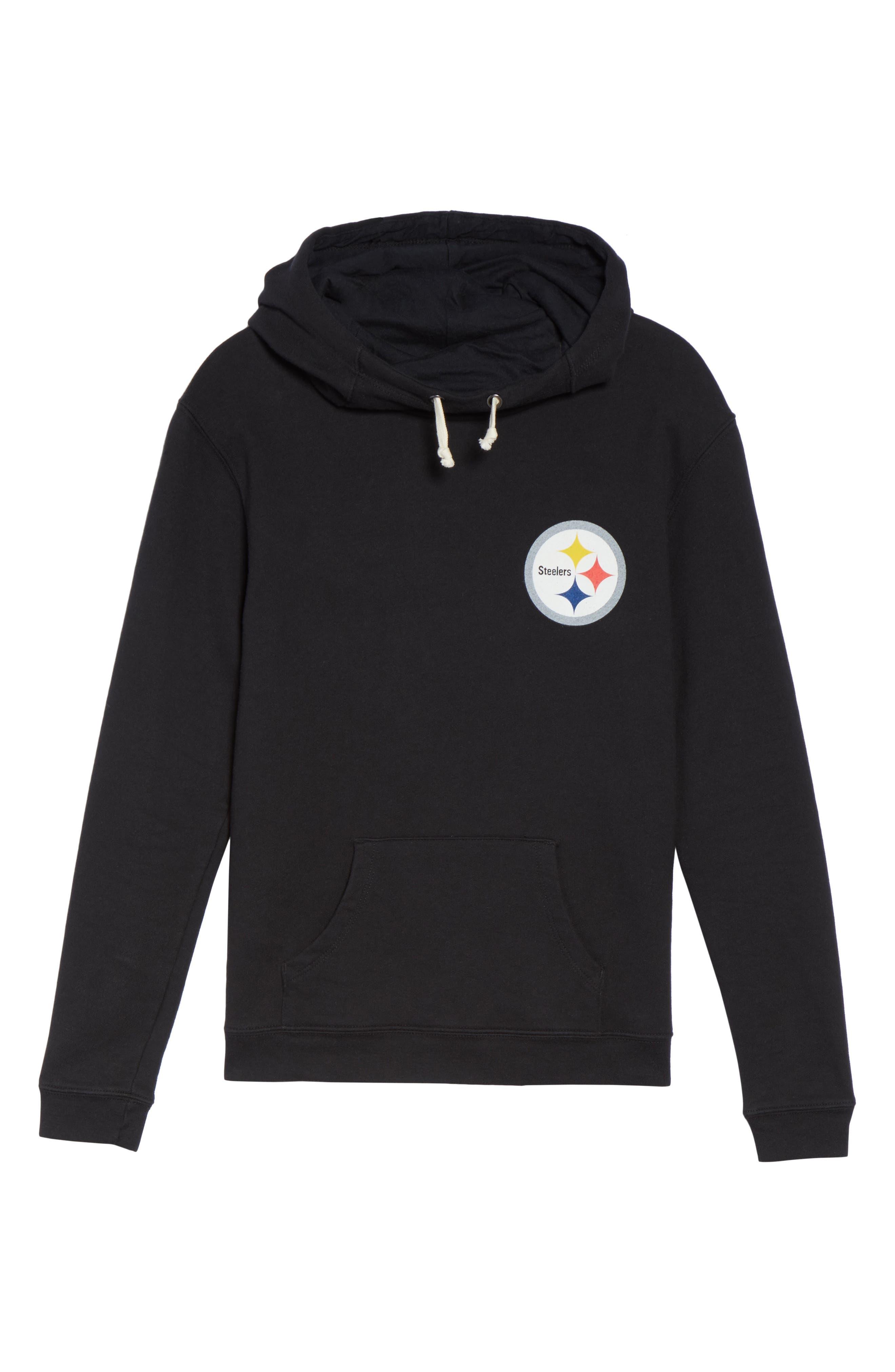 NFL Pittsburgh Steelers Sunday Hoodie,                             Alternate thumbnail 4, color,                             True Black