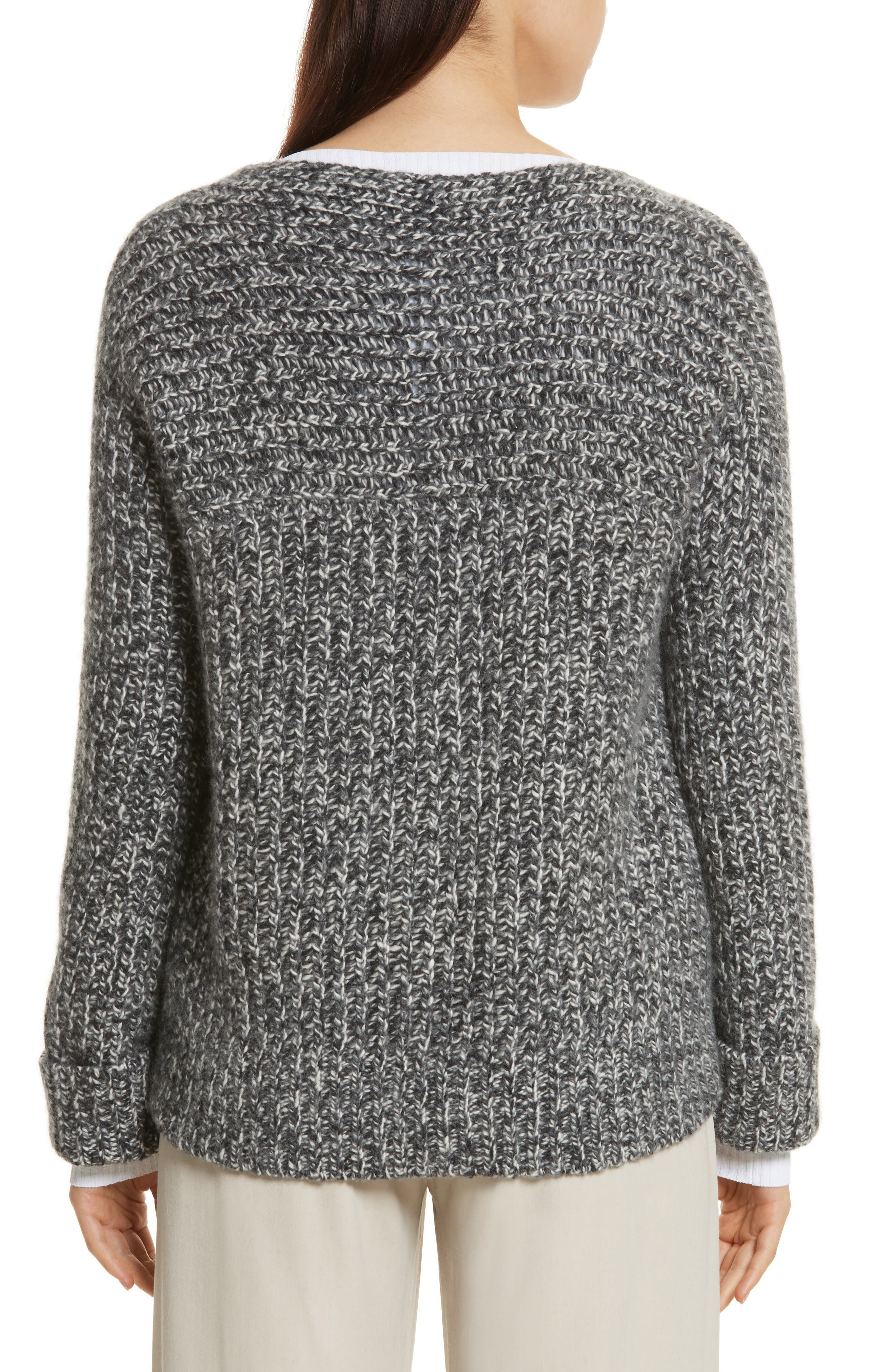 Marled Wool Blend Sweater,                             Alternate thumbnail 2, color,                             Grey