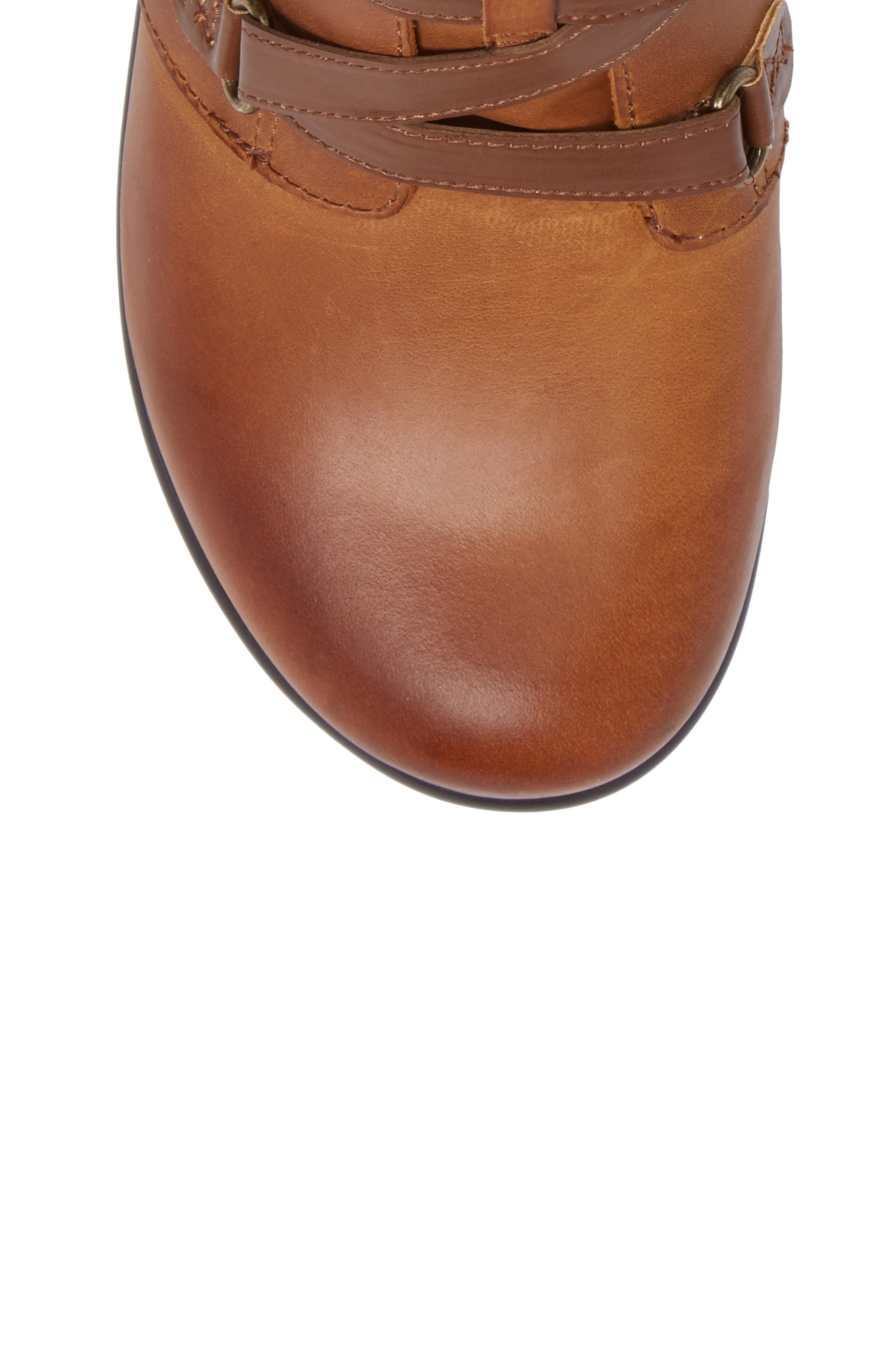 Indi Demi Wedge Bootie,                             Alternate thumbnail 5, color,                             Walnut Leather