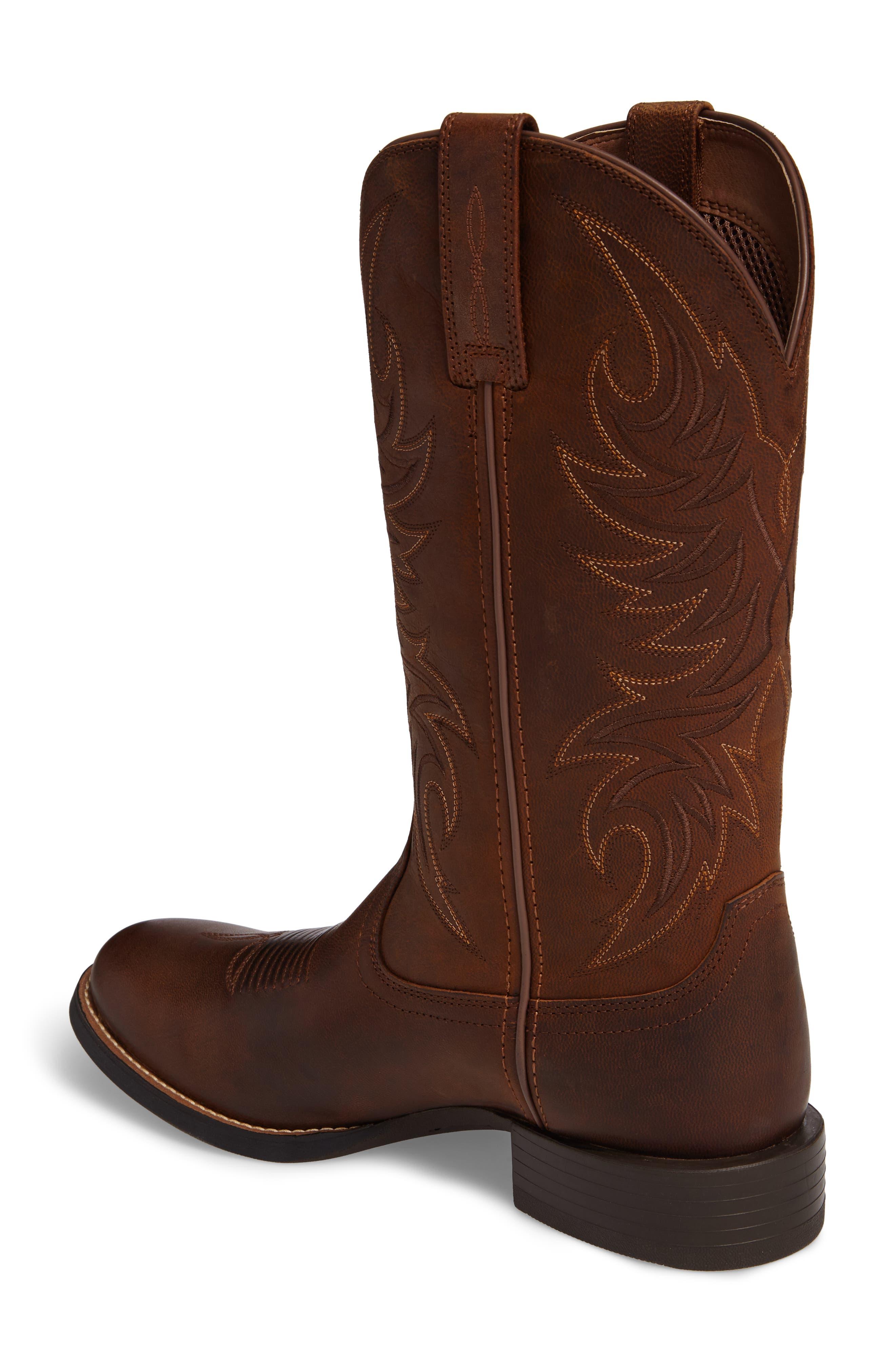 Sport Horsemen Cowboy Boot,                             Alternate thumbnail 2, color,                             Tan/ Pesto