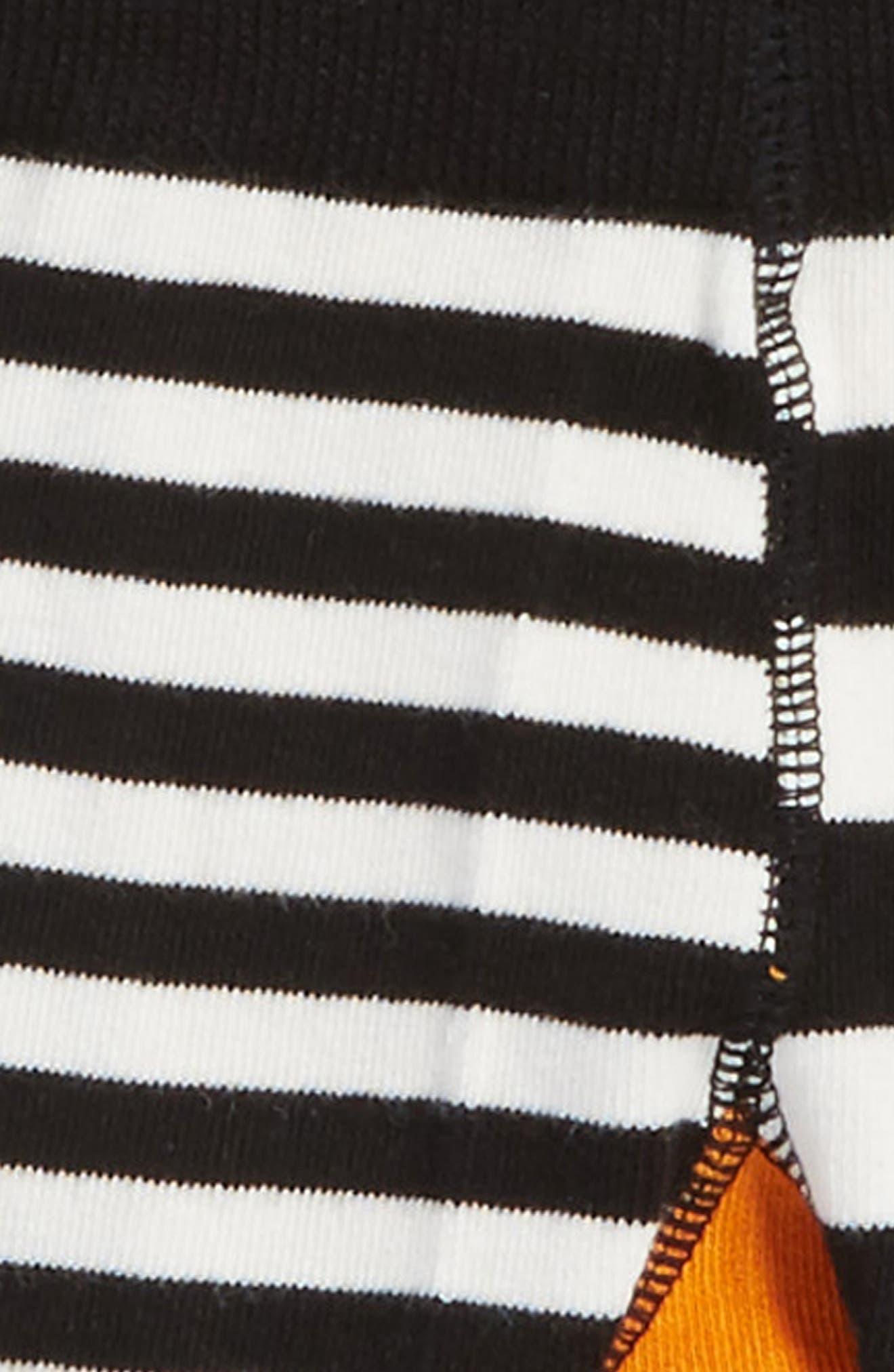 Fox Leggings,                             Alternate thumbnail 3, color,                             Orange/ Black/ Cream
