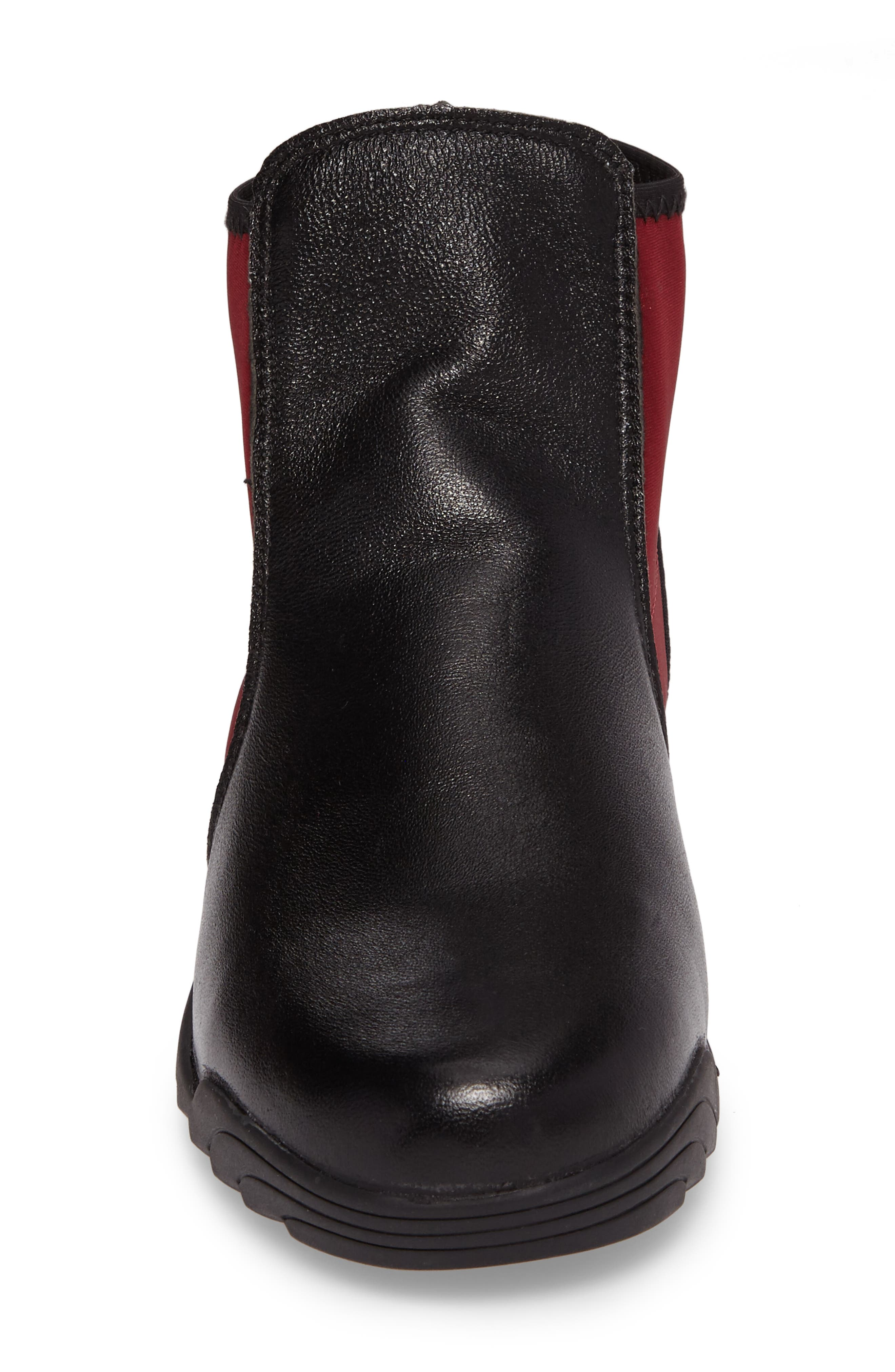 Rigged Force Sneaker,                             Alternate thumbnail 4, color,                             Burgundy Leather