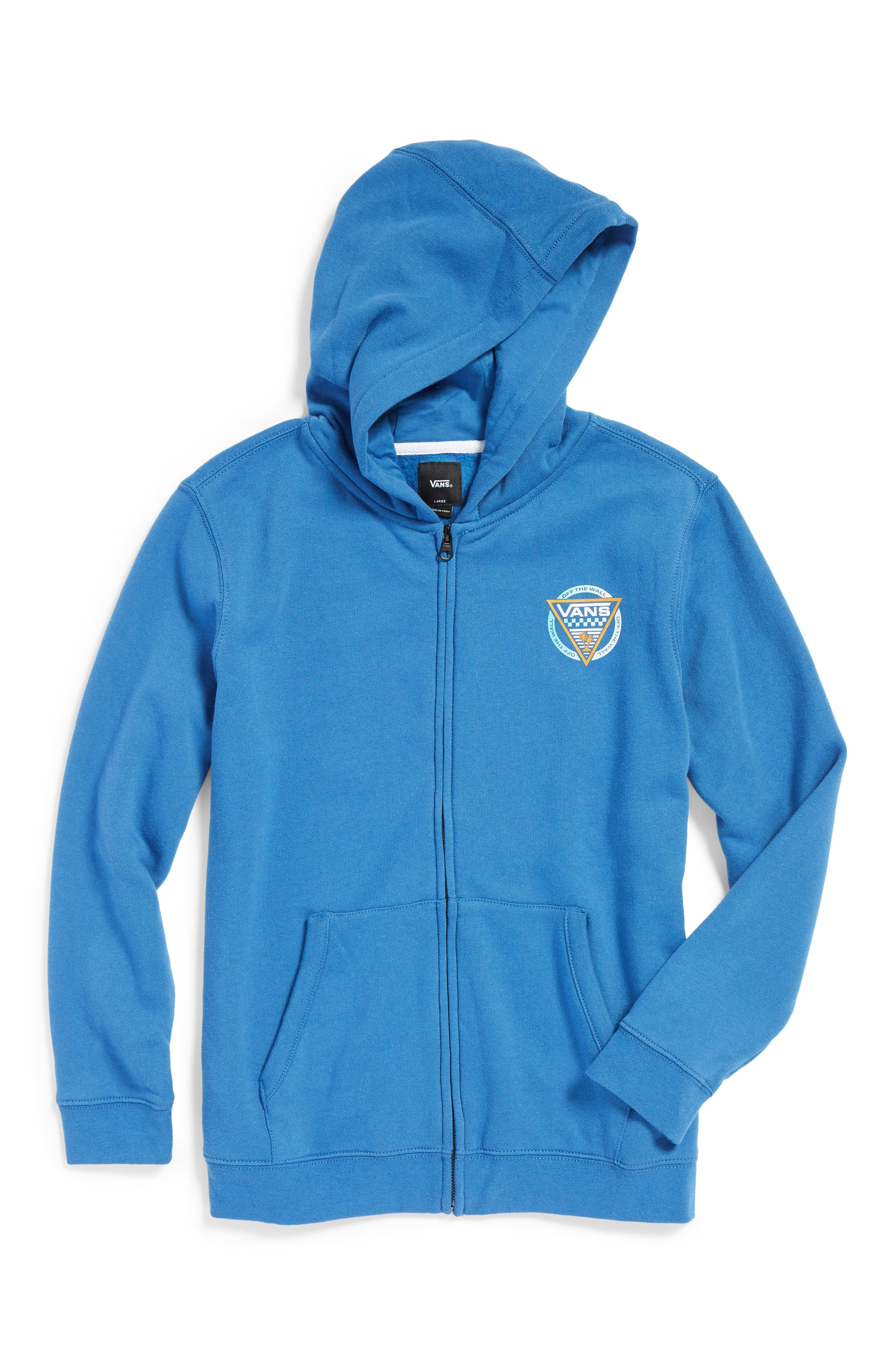 New Oldskool Logo Graphic Hoodie,                             Main thumbnail 1, color,                             Delft