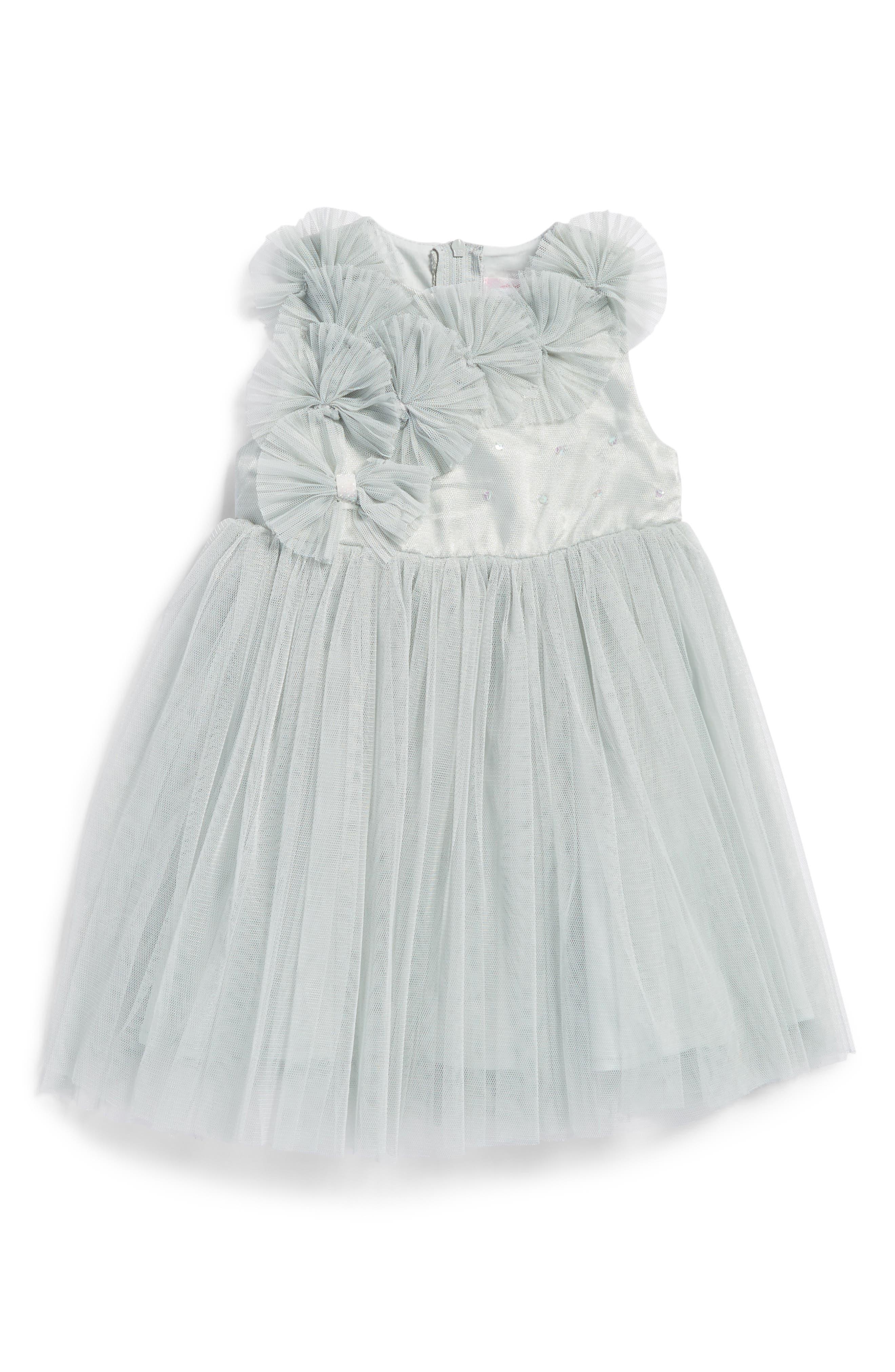 Empire Waist Tulle Dress,                         Main,                         color, Mint