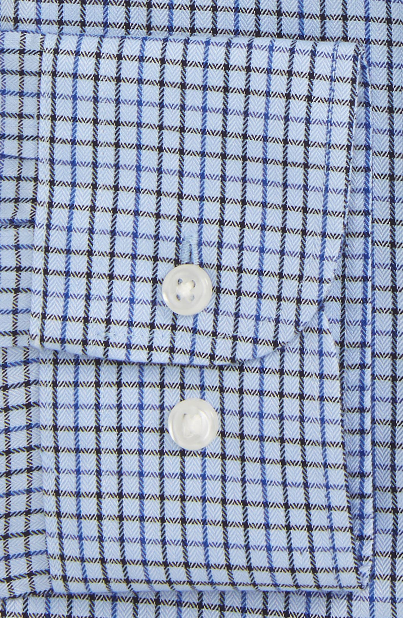 Smartcare<sup>™</sup> Trim Fit Check Dress Shirt,                             Alternate thumbnail 2, color,                             Navy Evening