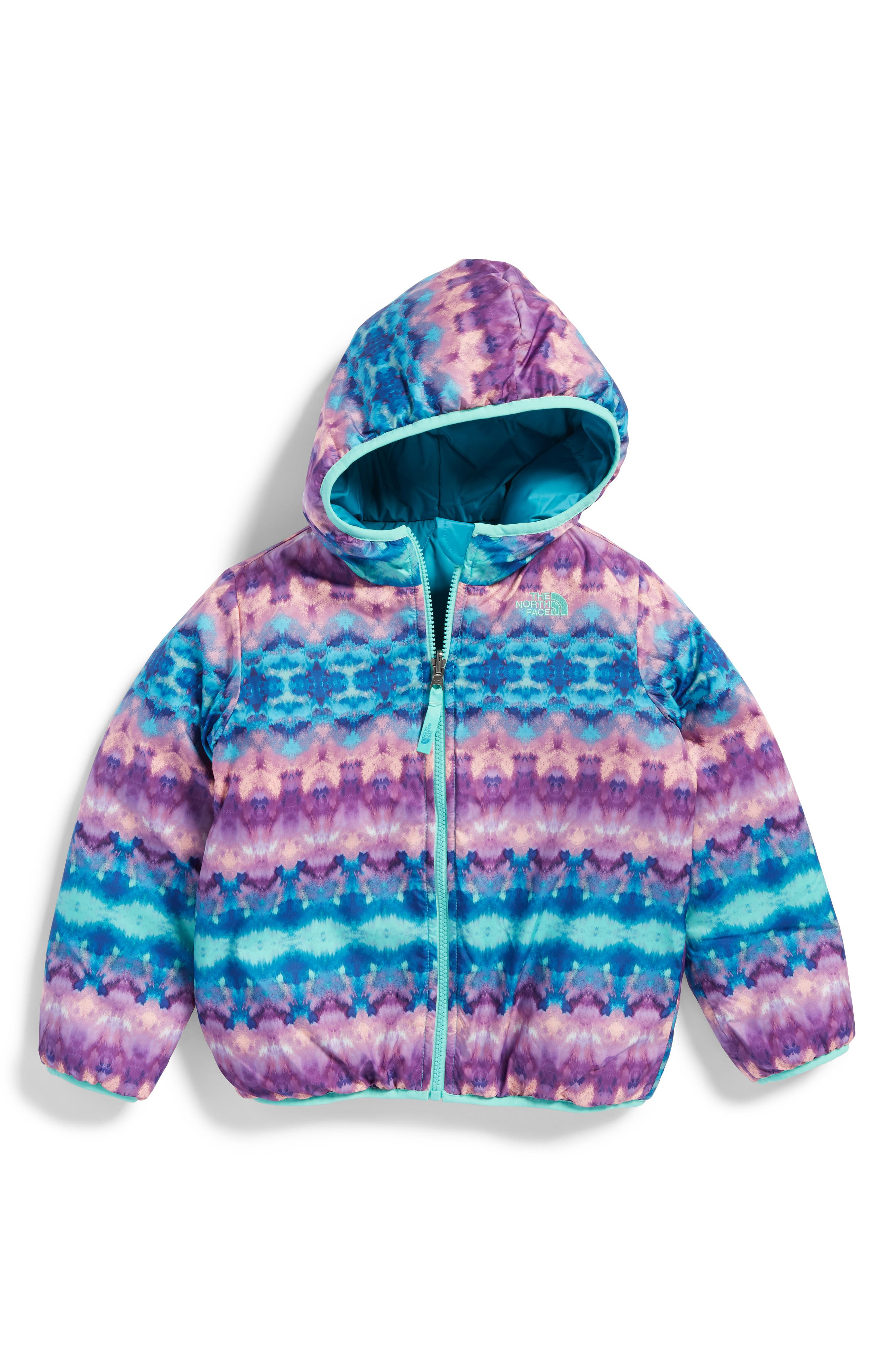 Alternate Image 1 Selected - The North Face Perrito Reversible Water-Repellent Hooded Jacket (Toddler Girls & Little Girls)