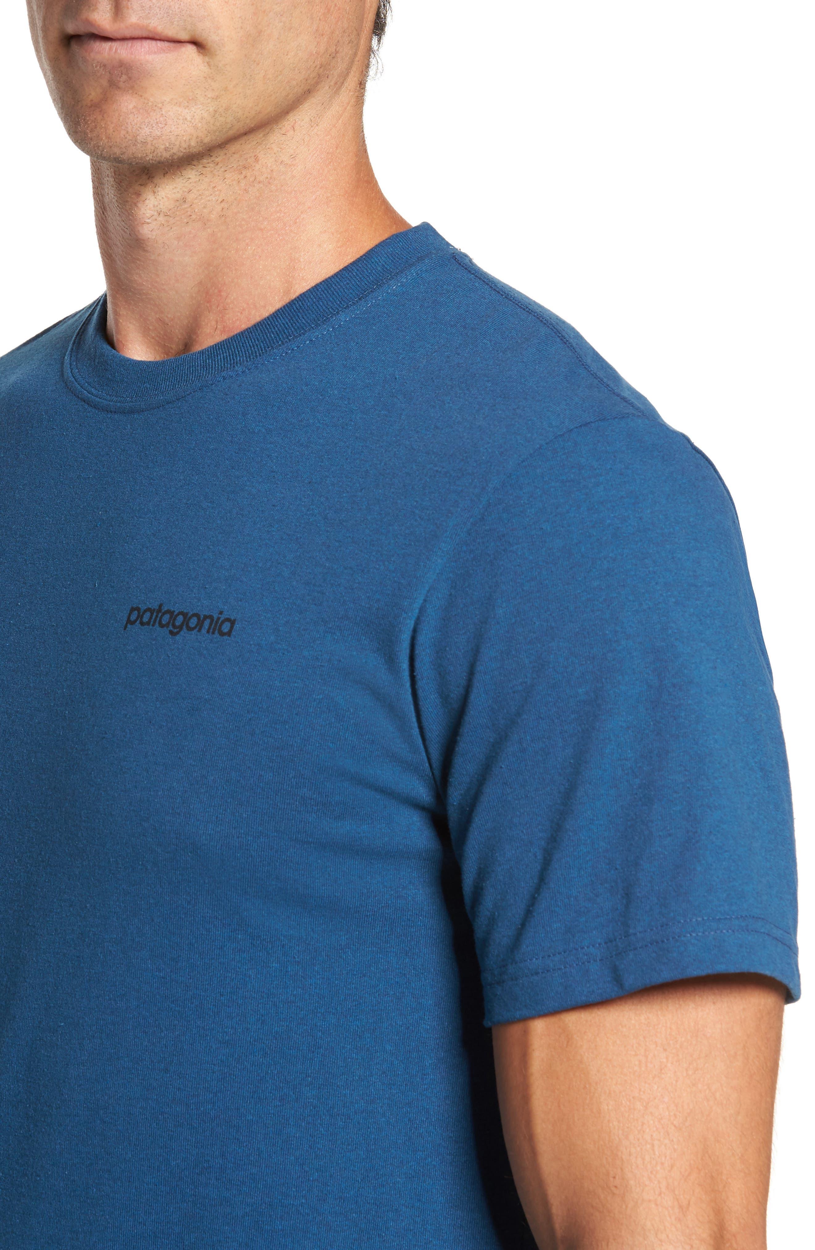 Line Regular Fit Logo T-Shirt,                             Alternate thumbnail 4, color,                             Glass Blue