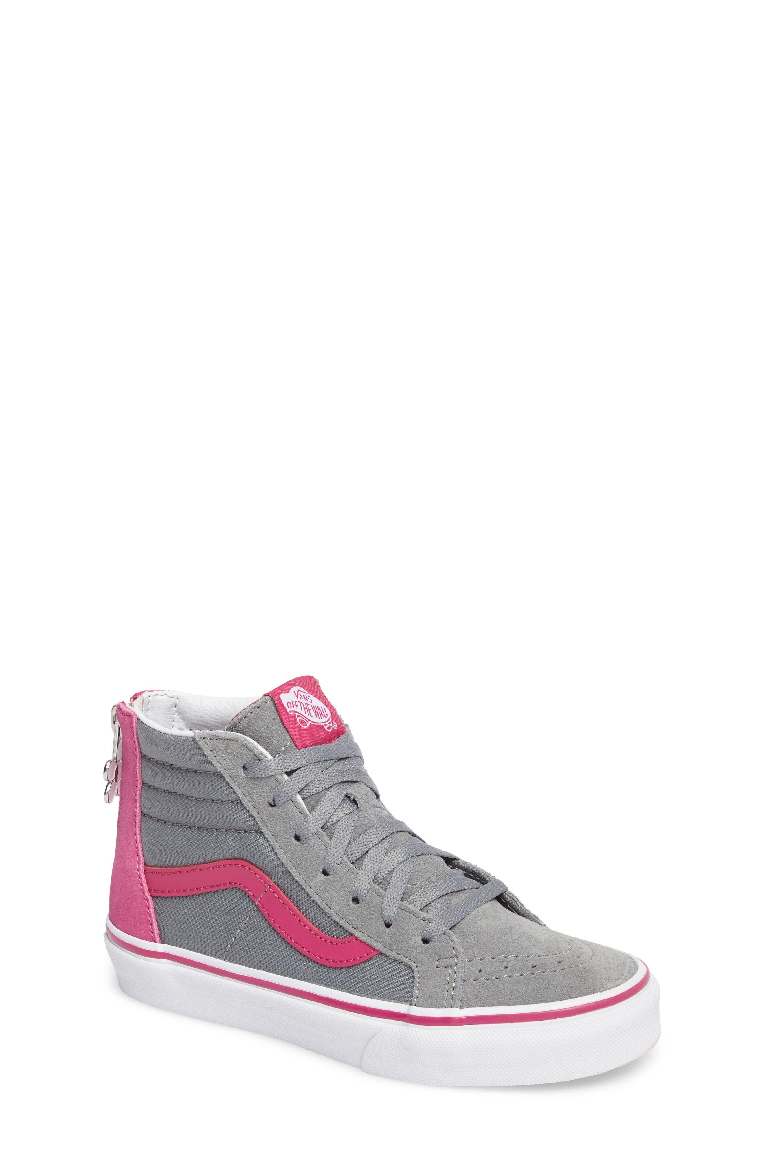 Main Image - Vans SK8-Hi Zip-Up Sneaker (Toddler, Little Kid & Big Kid)