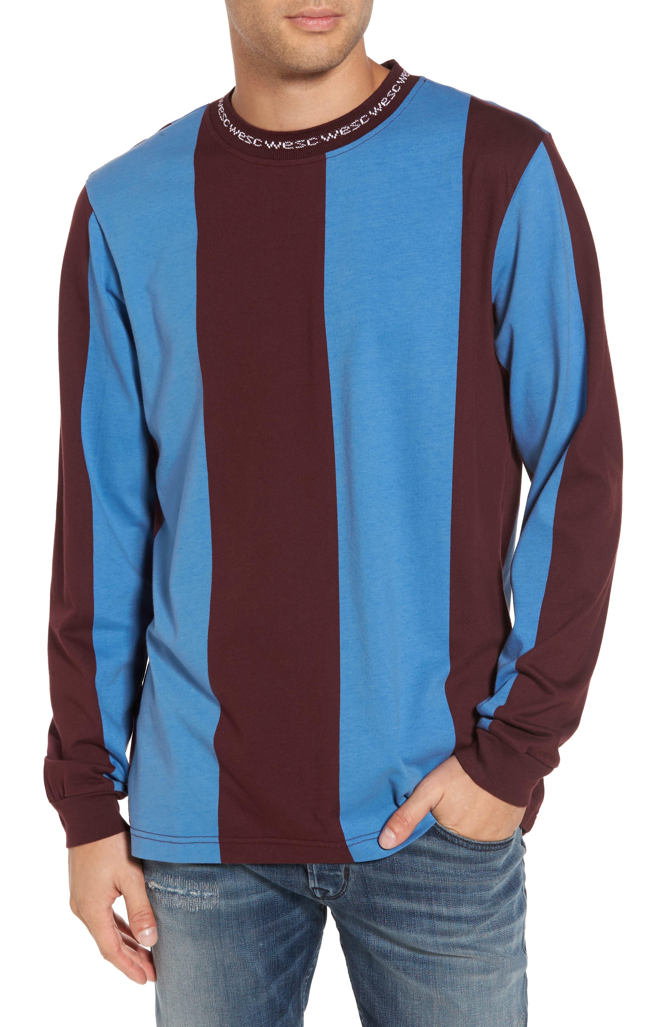 WeSC Manfred Stripe Fleece Sweater