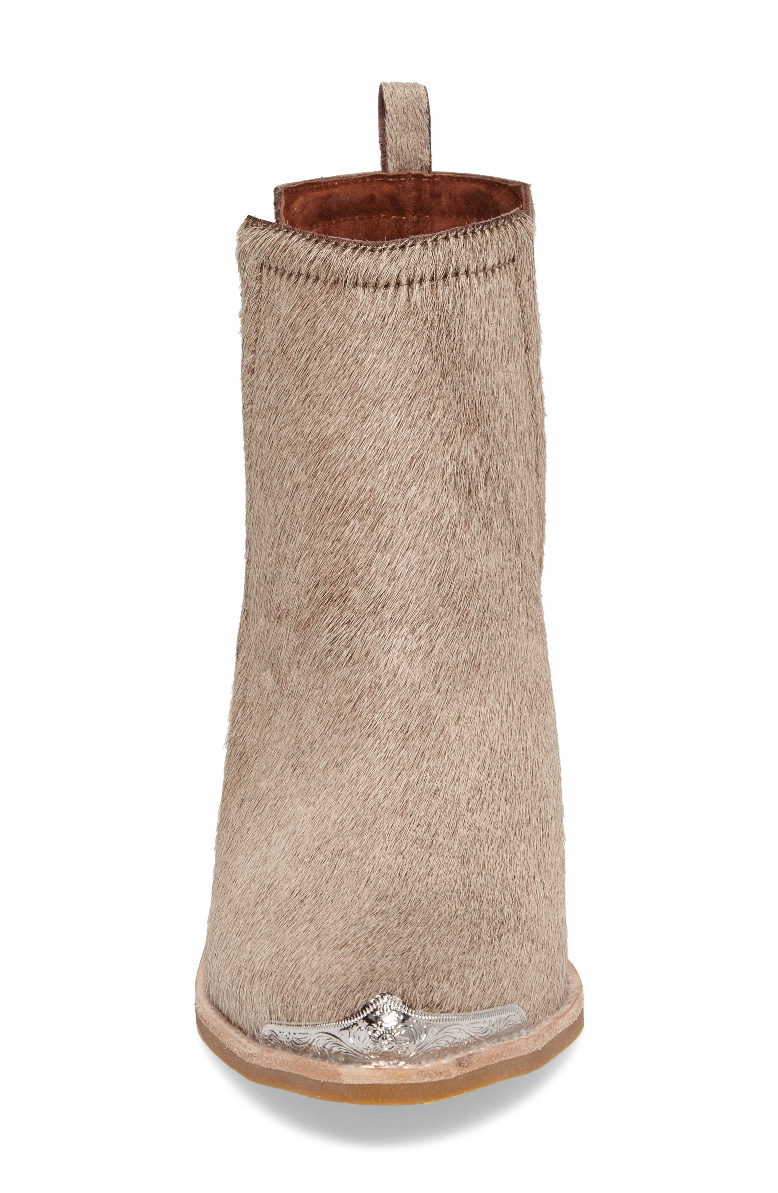 Alternate Image 4  - Jeffrey Campbell Cromwell Cutout Genuine Calf Hair Western Boot (Women)