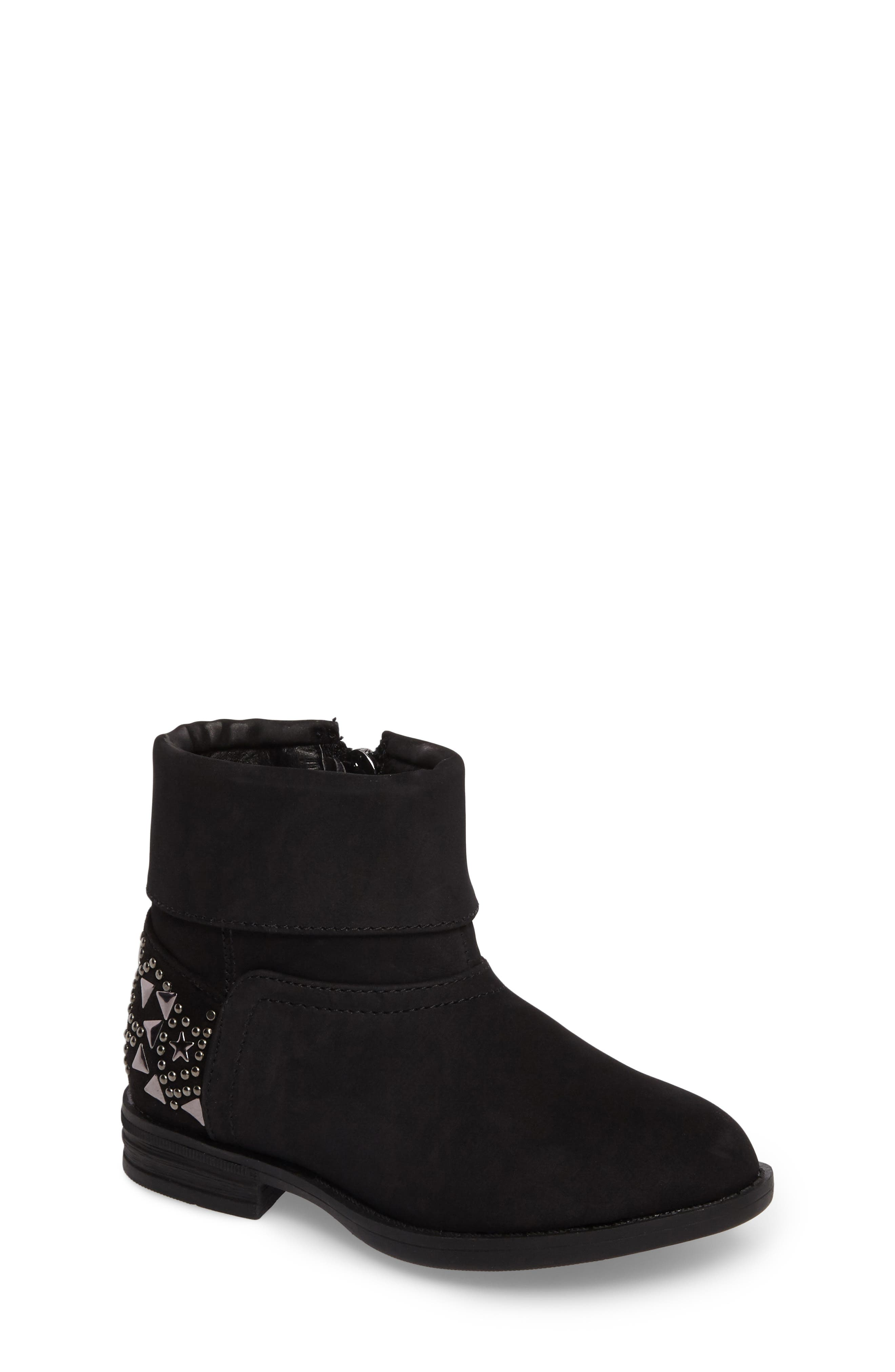 Wild Star Studded Bootie,                             Main thumbnail 1, color,                             Black