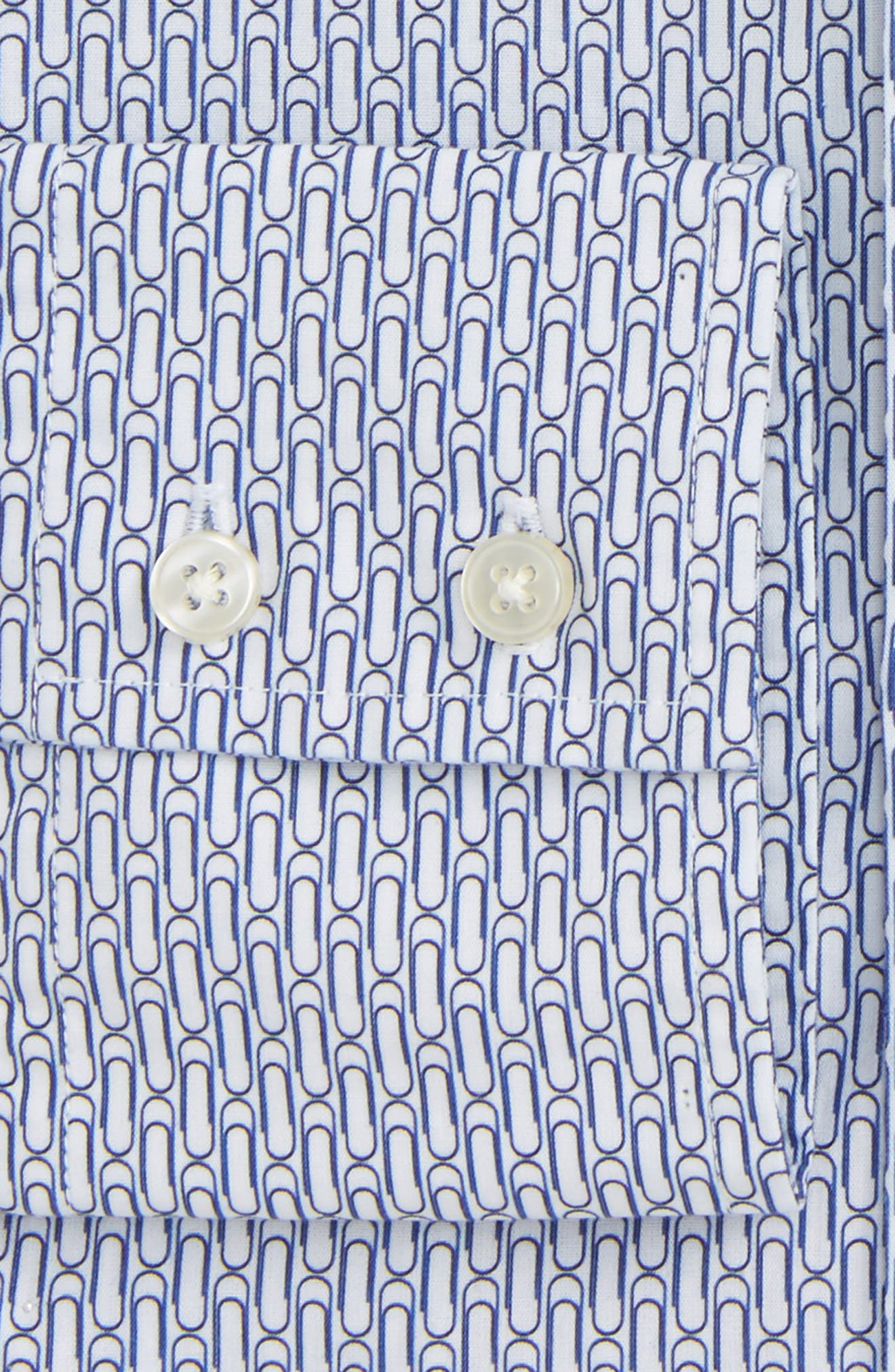 Alternate Image 2  - Michael Bastian Trim Fit Paper Clip Print Dress Shirt