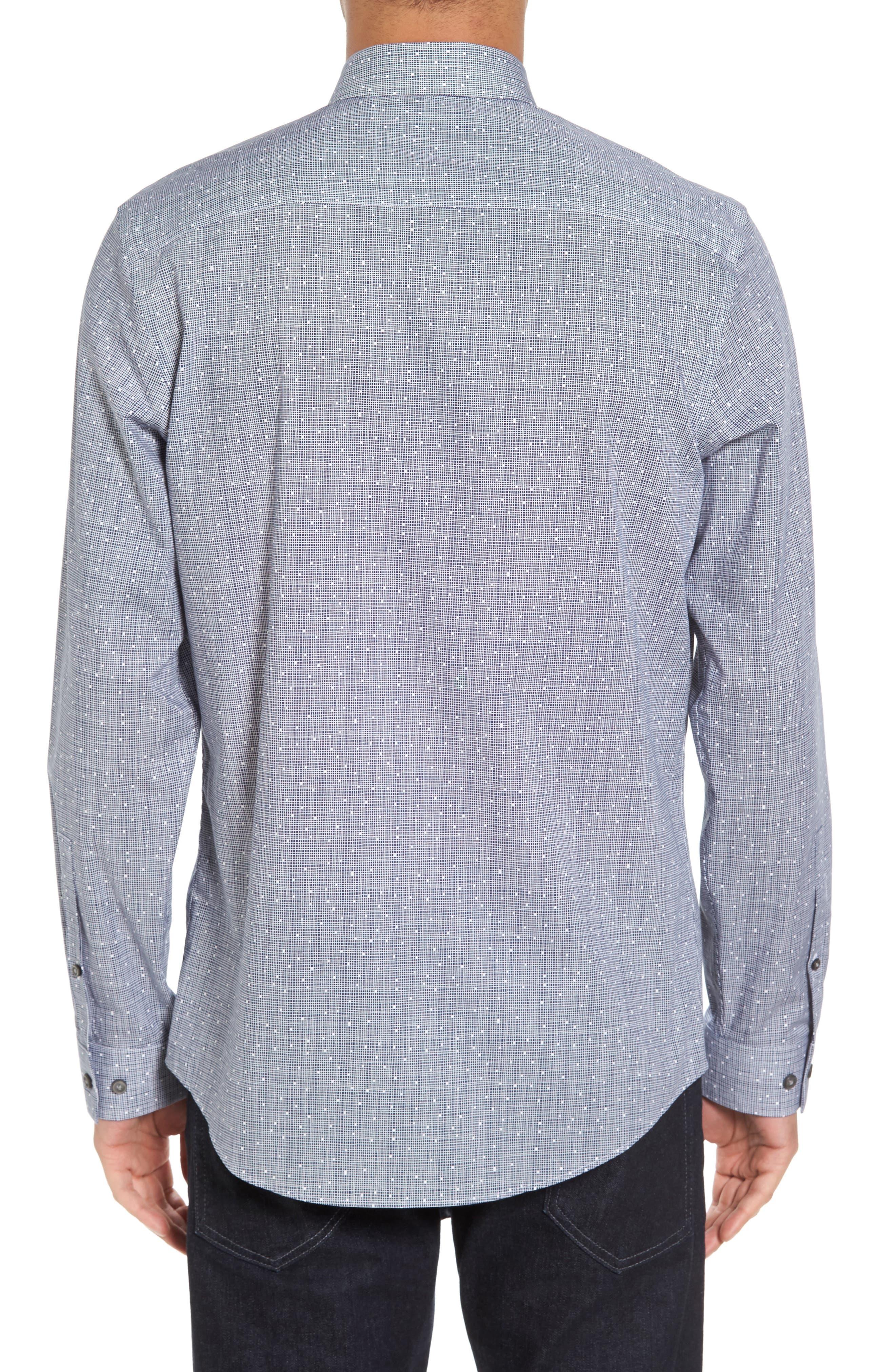 Alternate Image 2  - Calibrate Slim Fit No-Iron Print Sport Shirt