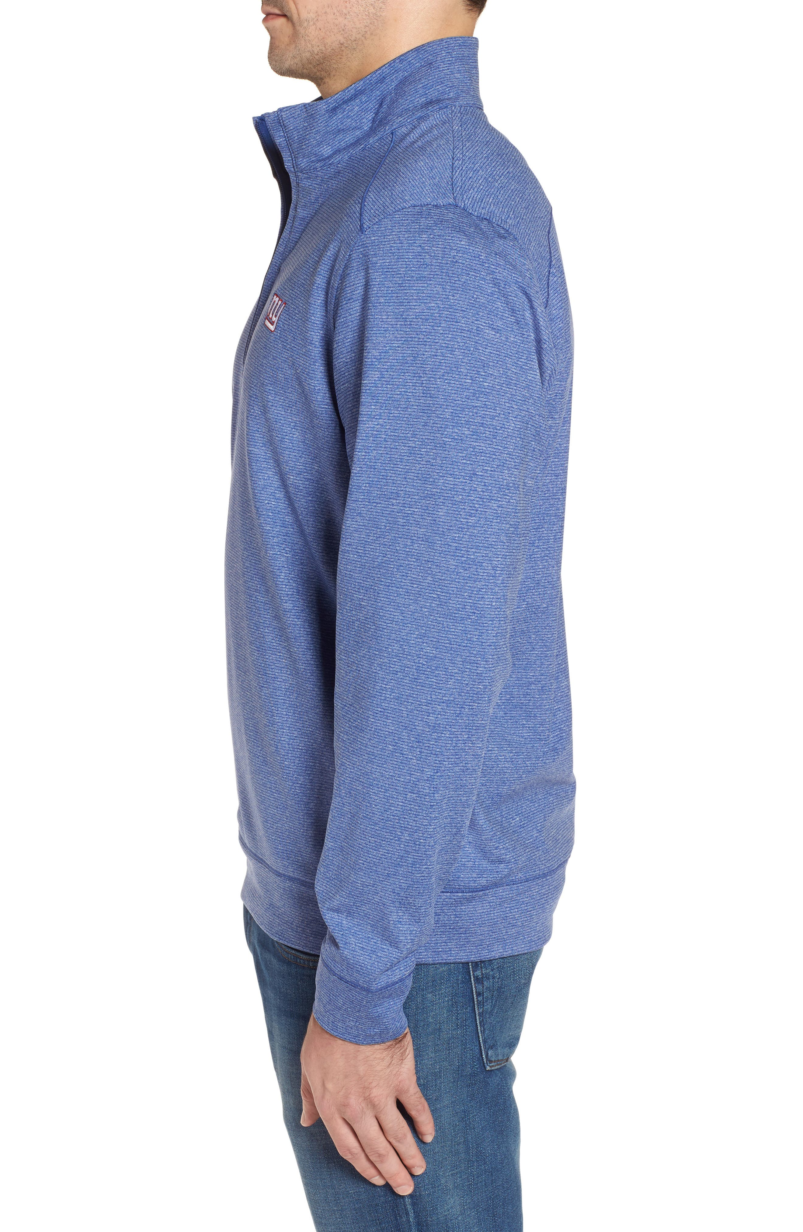 Shoreline - New York Giants Half Zip Pullover,                             Alternate thumbnail 3, color,                             Tour Blue Heather