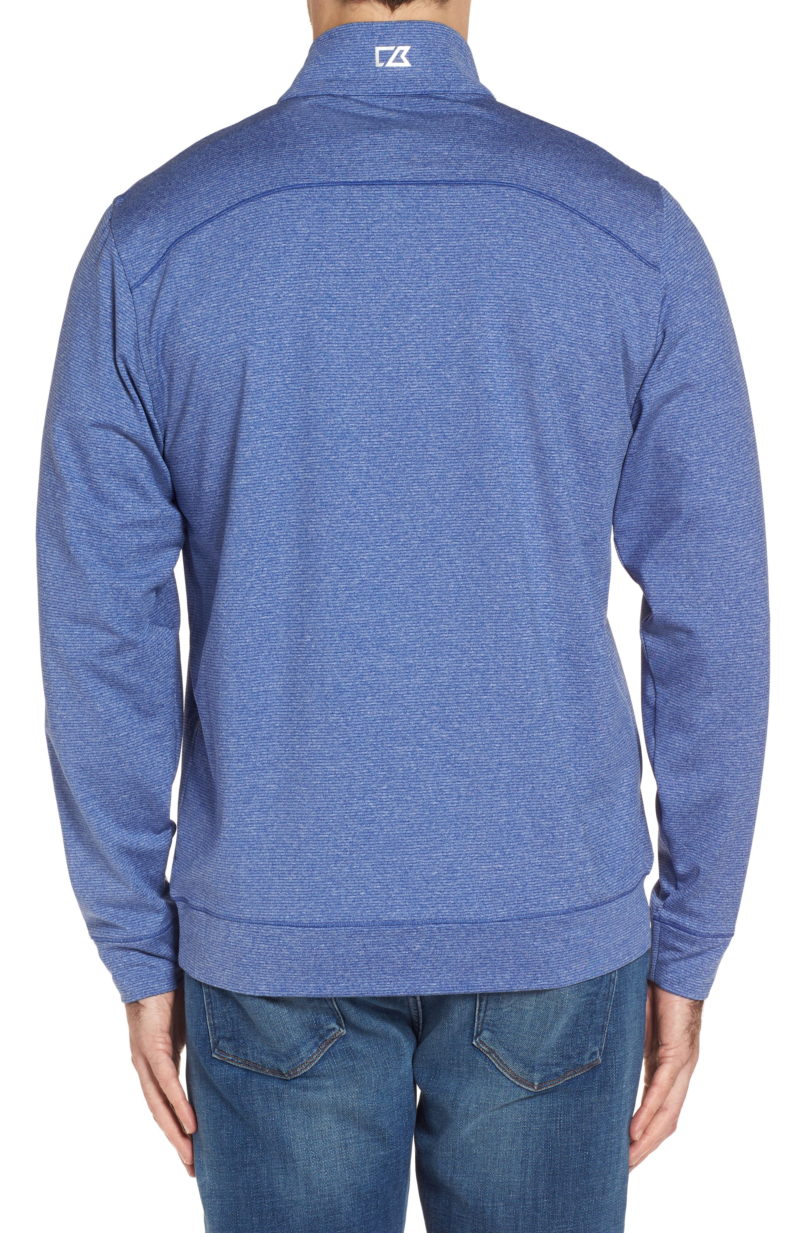 Shoreline - Indianapolis Colts Half Zip Pullover,                             Alternate thumbnail 2, color,                             Tour Blue Heather