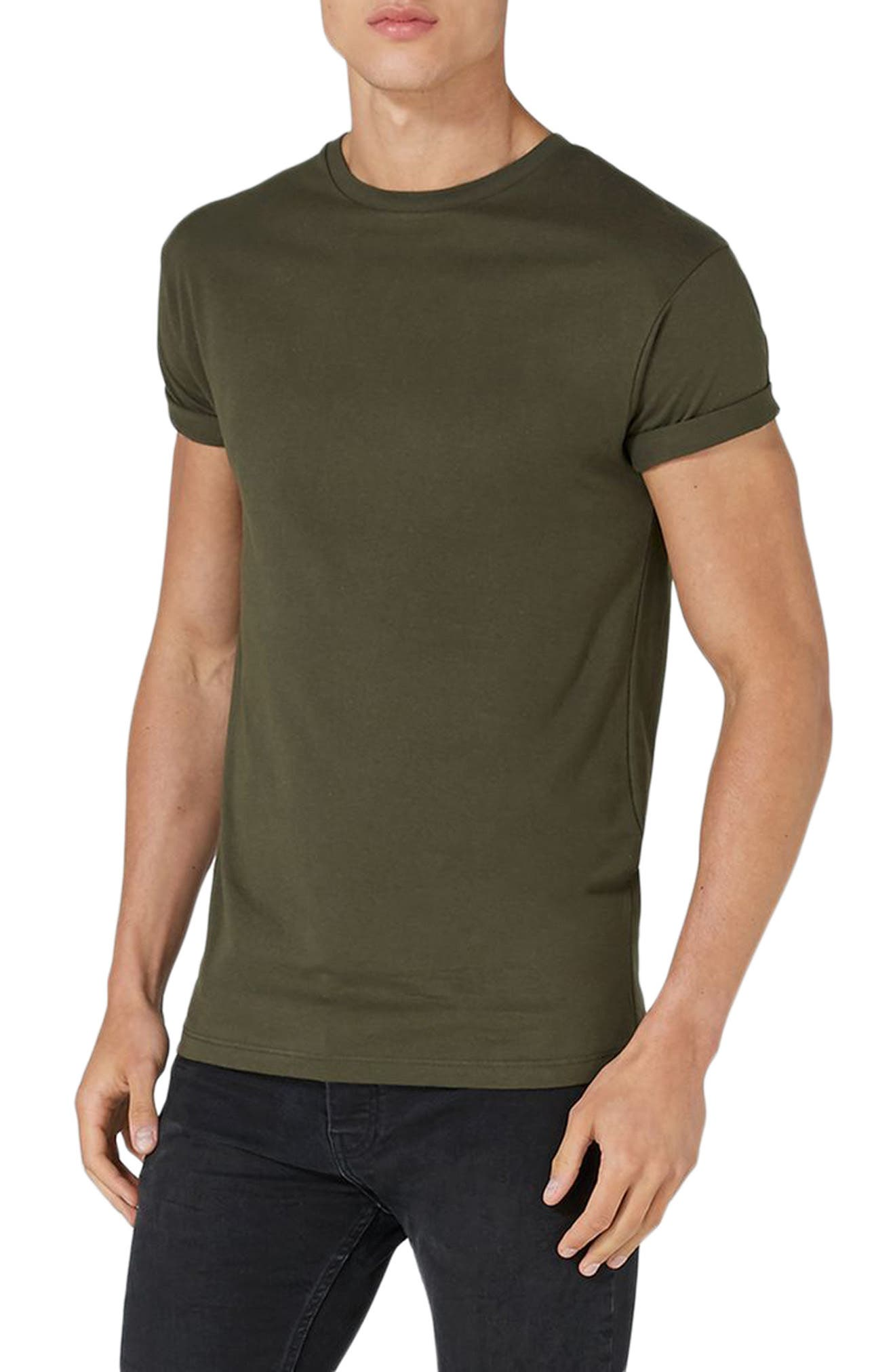 Main Image - Topman Muscle Fit Roller T-Shirt