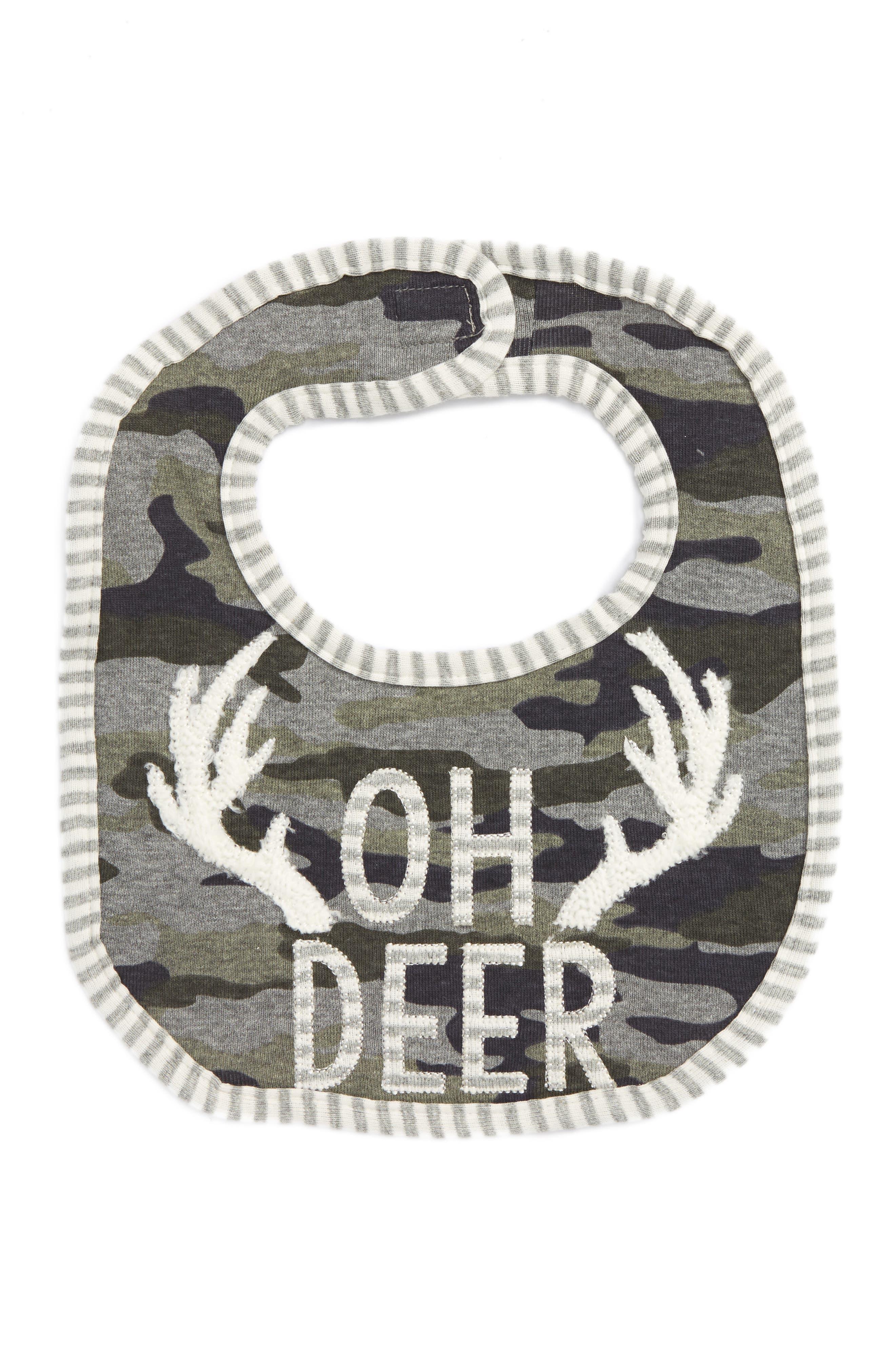 Mud Pie Oh Deer Camo Bib