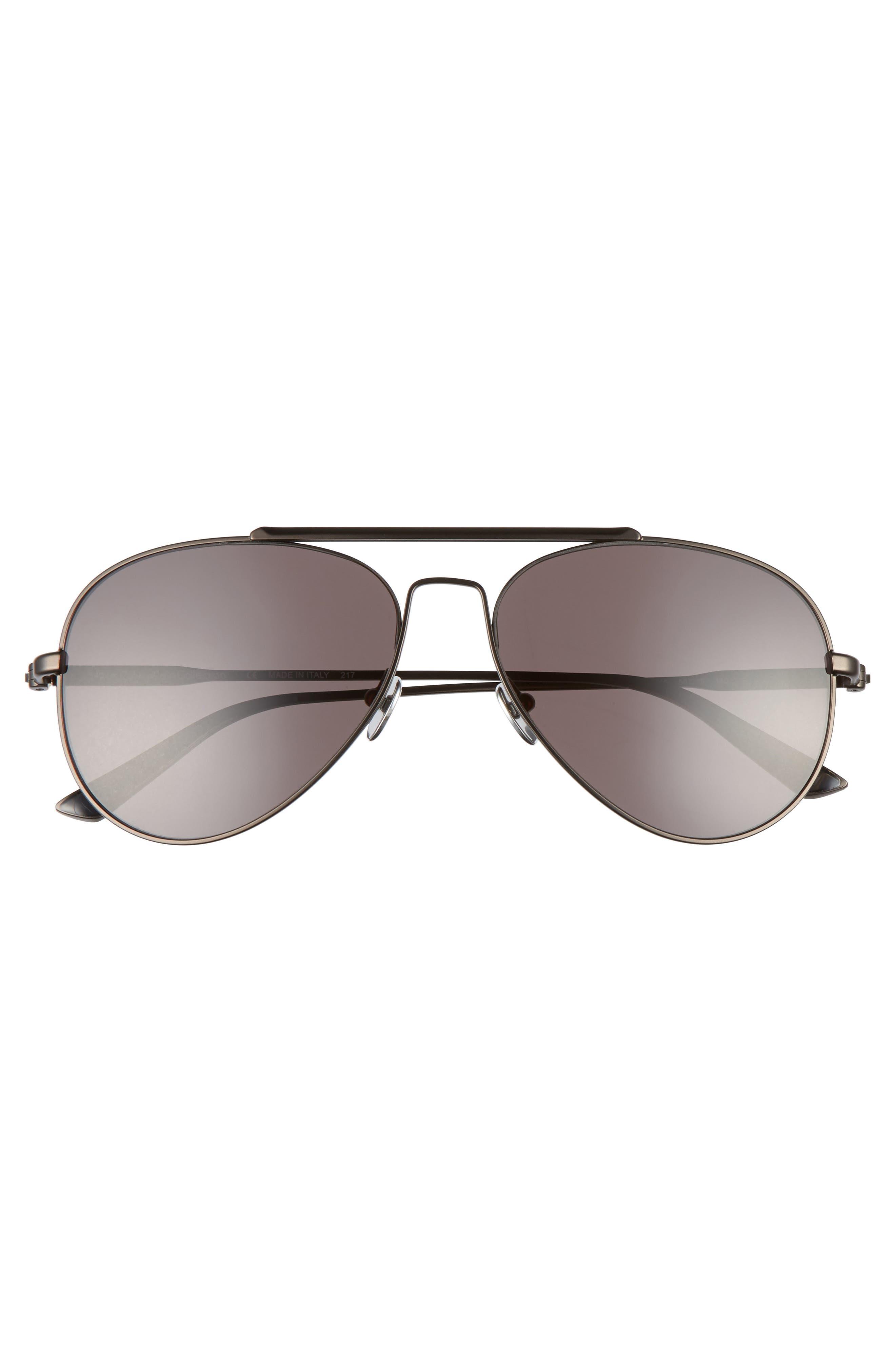 58mm Aviator Sunglasses,                             Alternate thumbnail 3, color,                             Satin Titanium