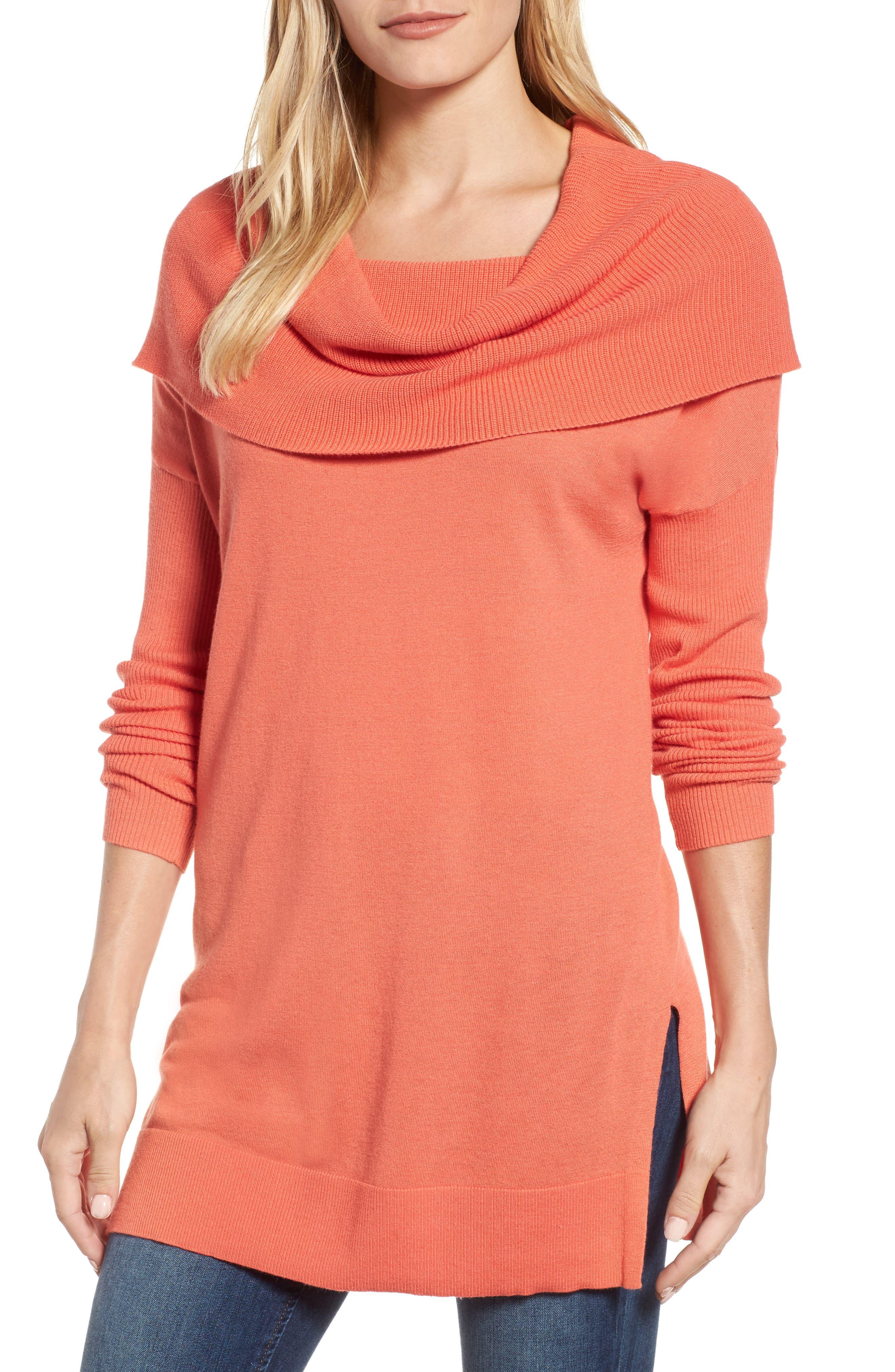 Women's Pink Cowl Neck Sweaters   Nordstrom