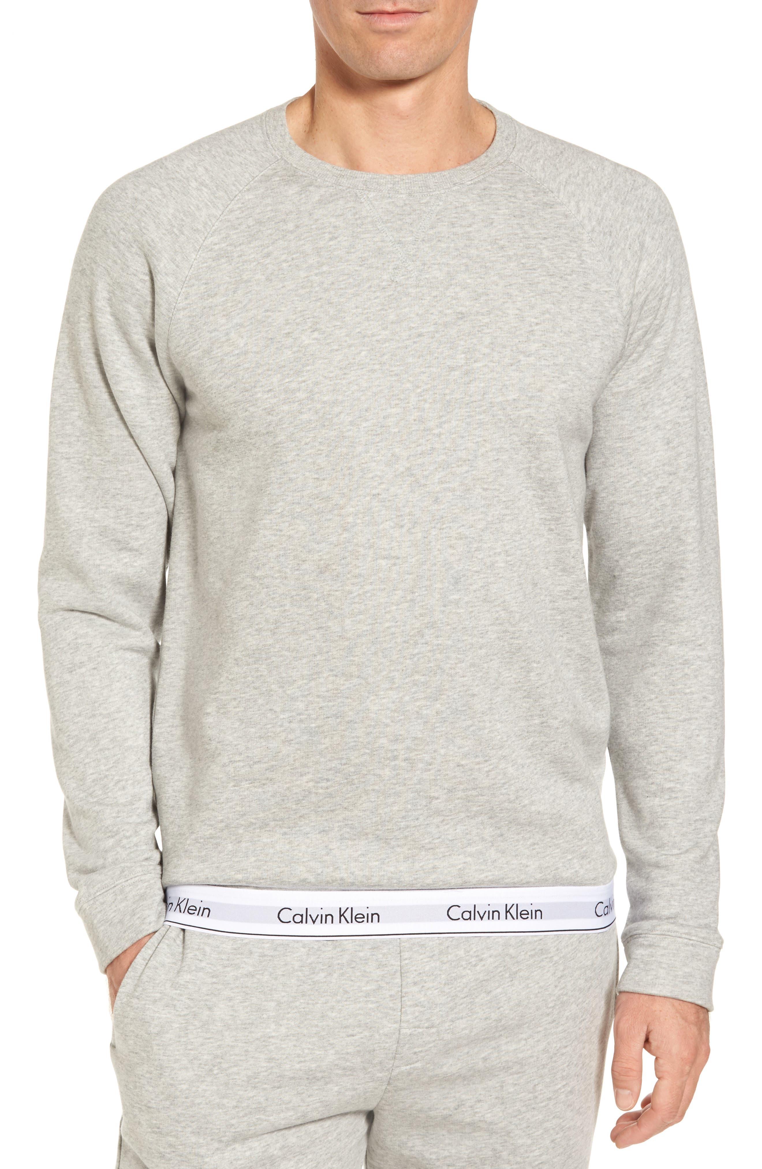 Lounge Crewneck Sweatshirt,                             Main thumbnail 1, color,                             Grey Heather