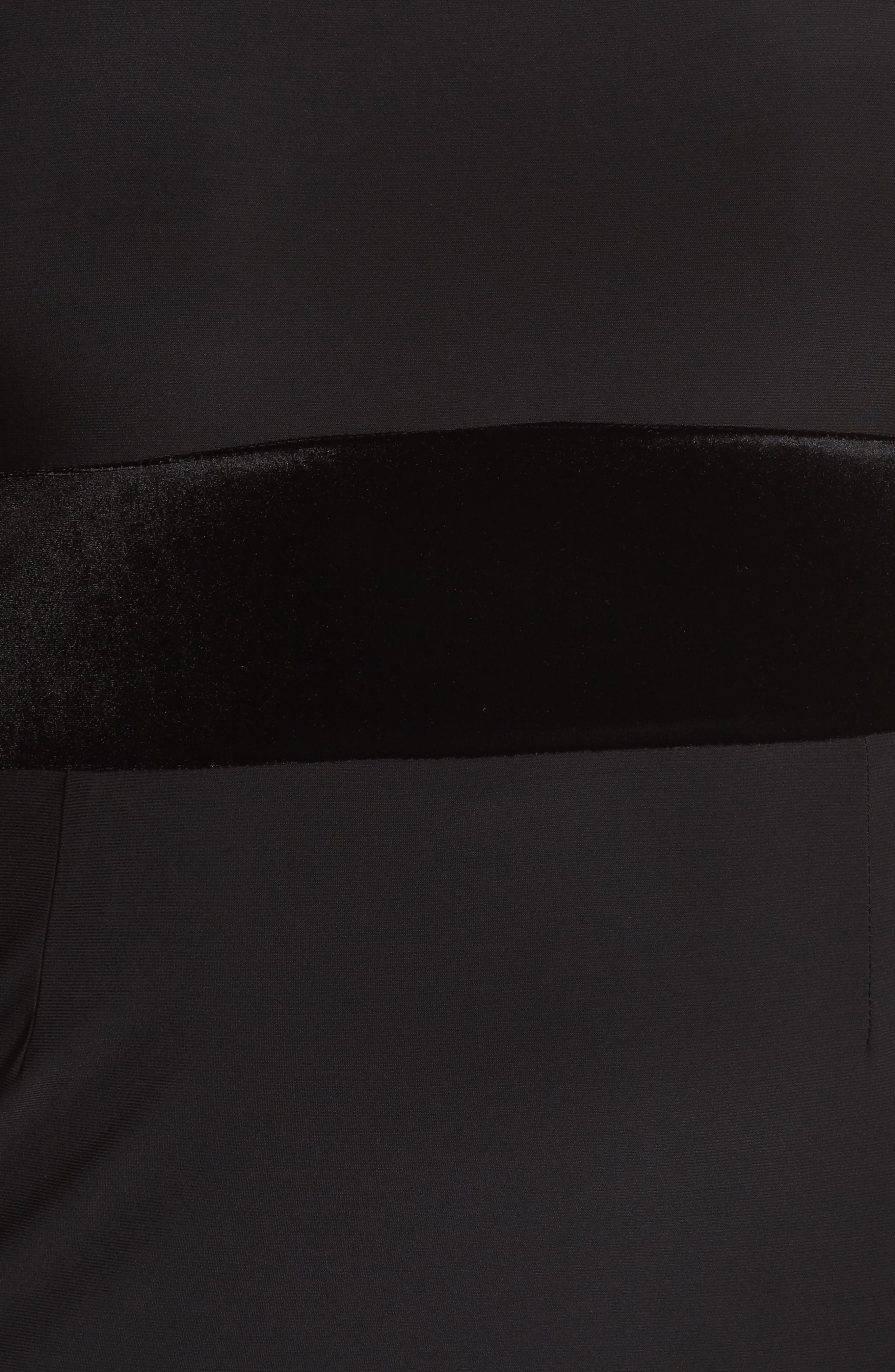 Alternate Image 5  - Xscape Velvet Trim Maxi Dress (Plus Size)