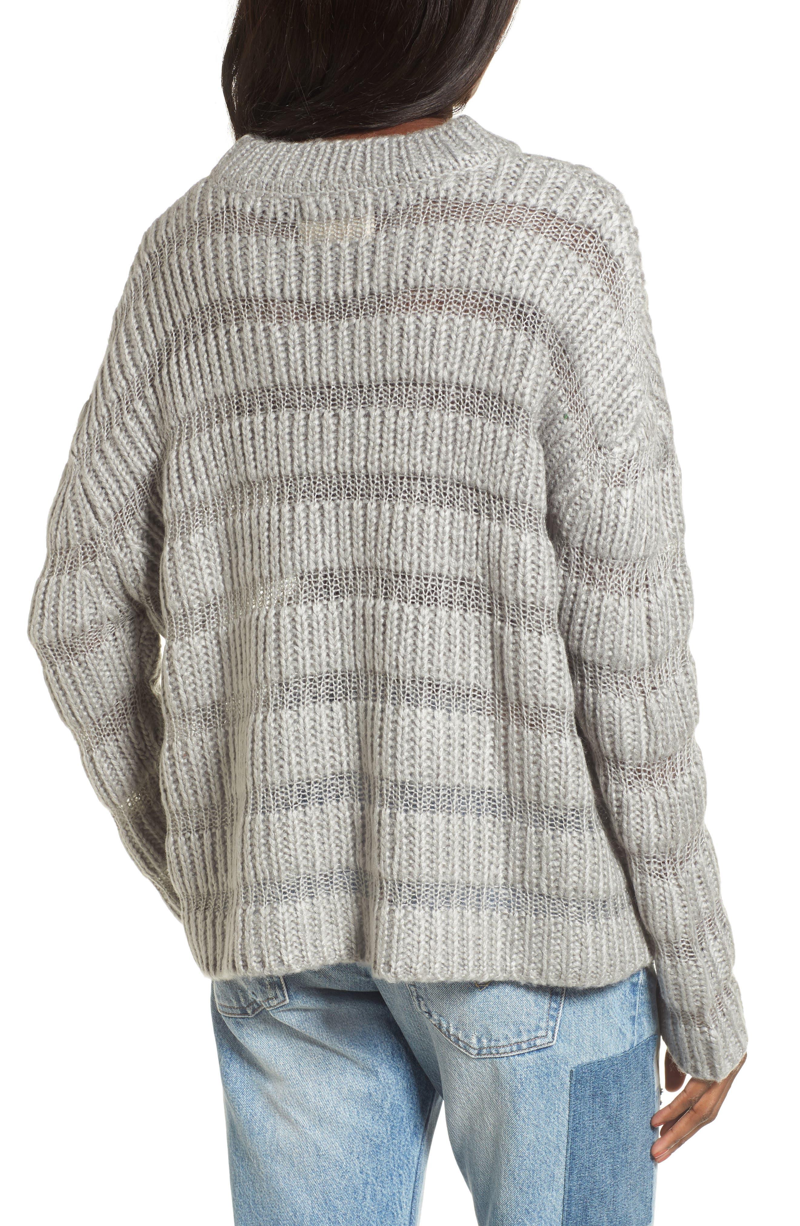 Alternate Image 3  - Moon River Textured Stripe Crop Sweater