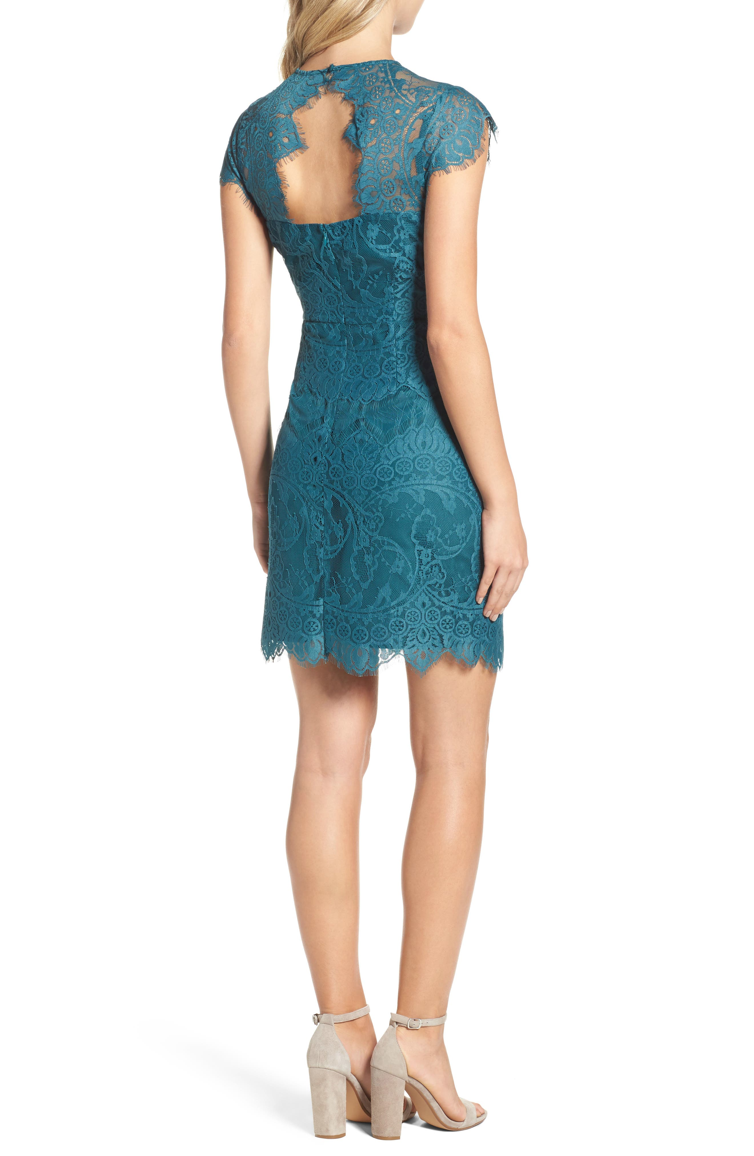 Alternate Image 2  - BB Dakota Jayce Lace Sheath Dress