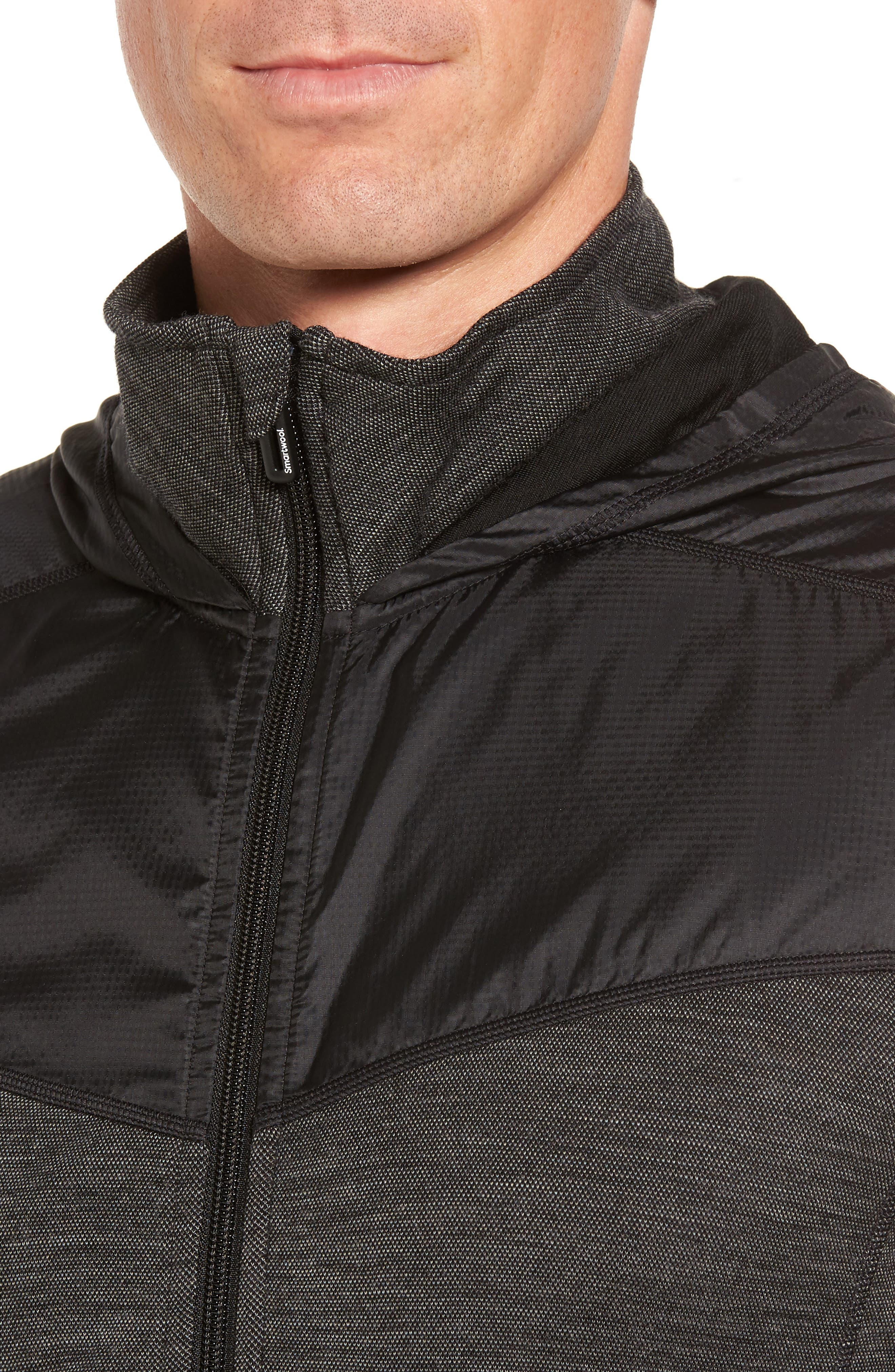 250 Sport Merino Wool Jacket,                             Alternate thumbnail 4, color,                             Black