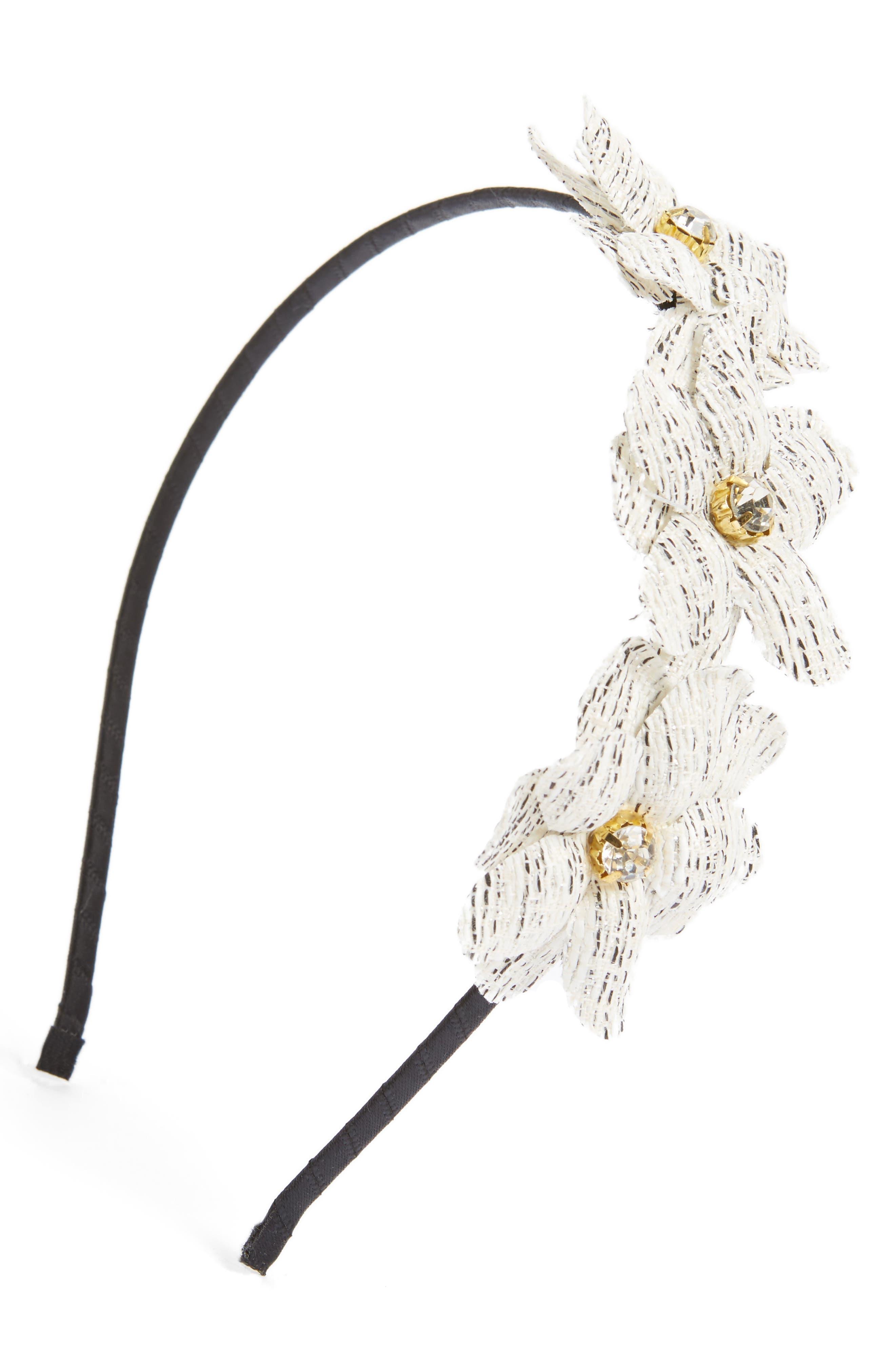 Floral Headband,                         Main,                         color, Black Multi