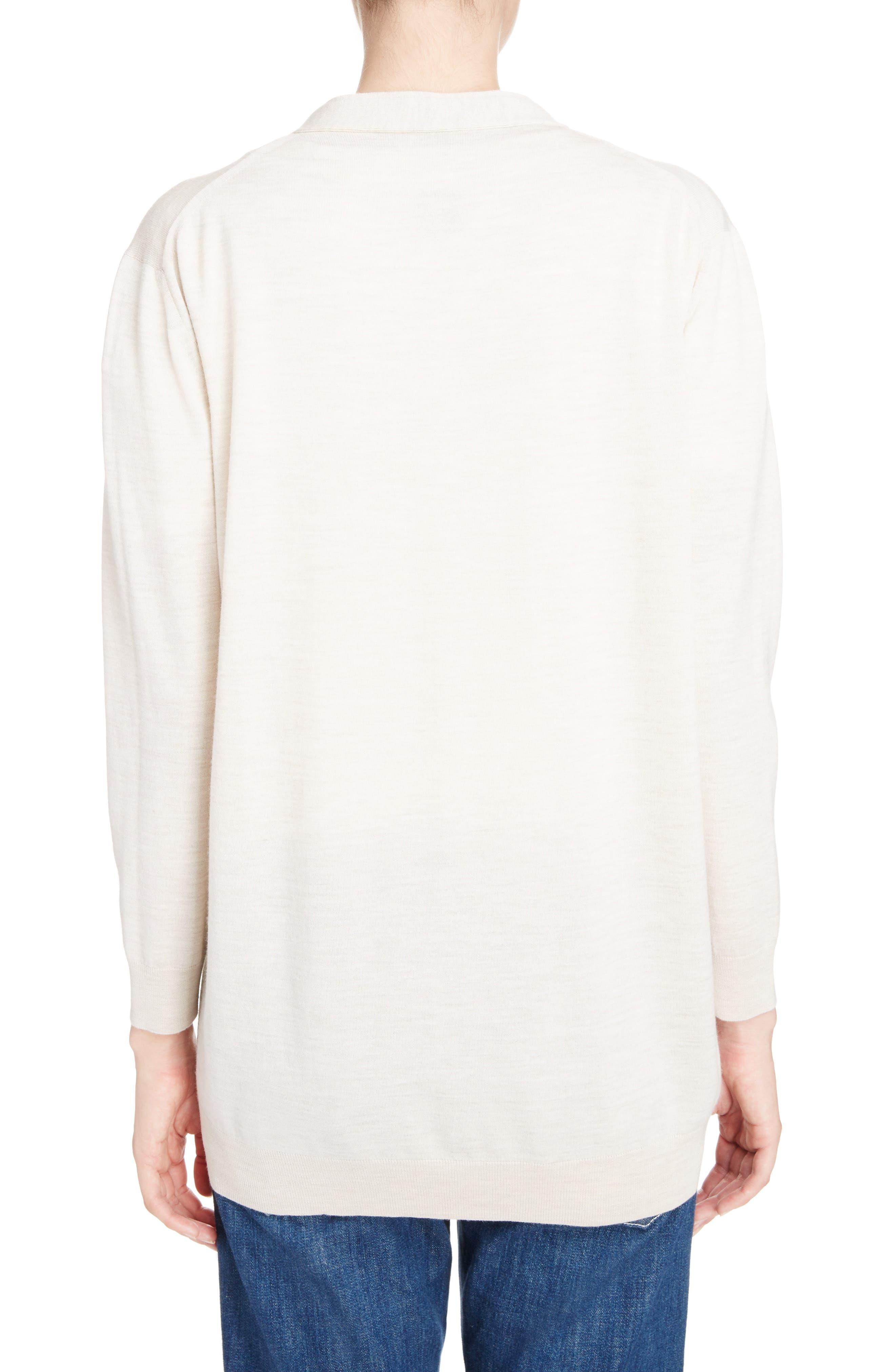 Alternate Image 2  - Loewe Logo Wool Blend Cardigan