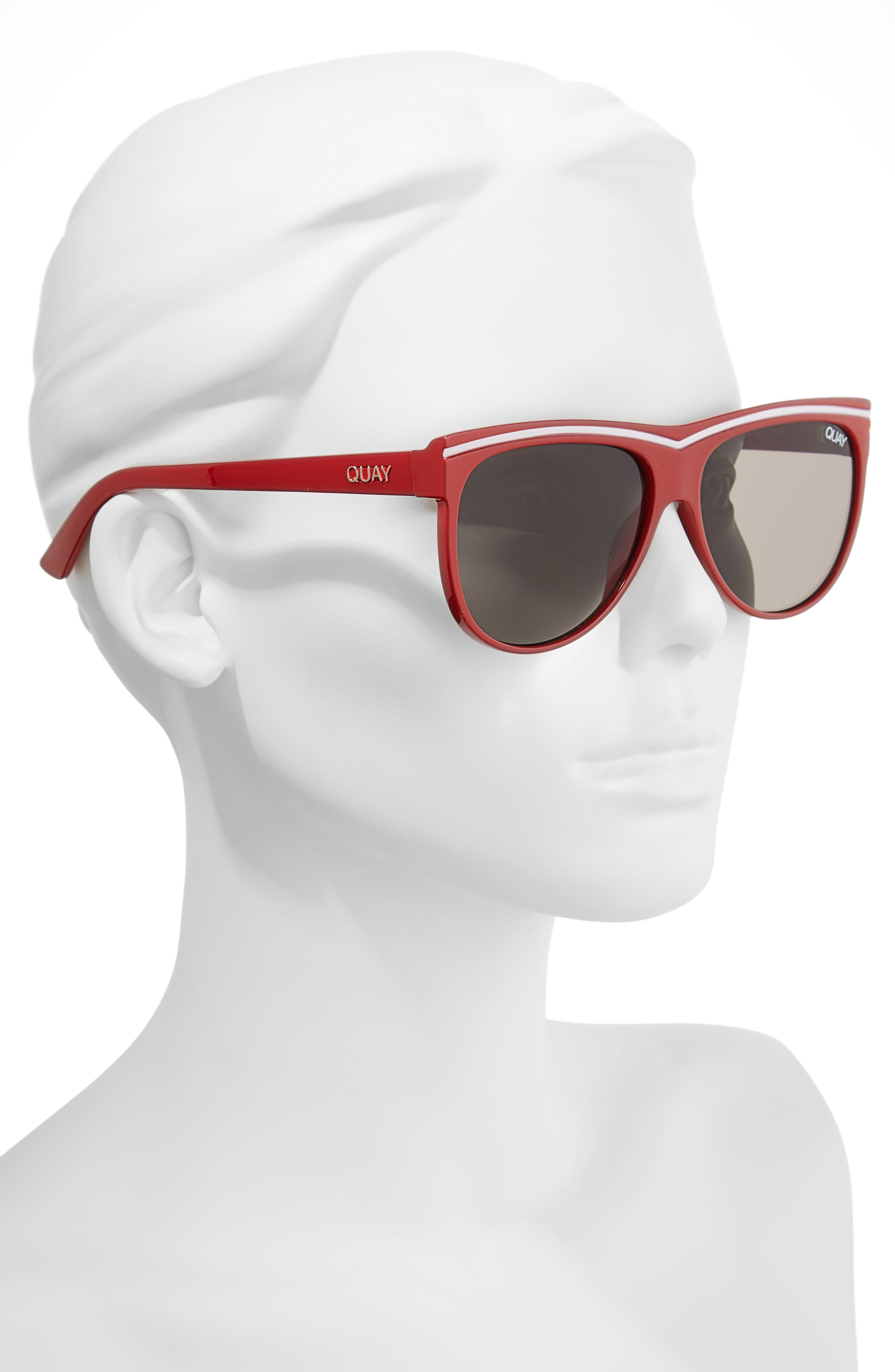 Hollywood Nights 62mm Sunglasses,                             Alternate thumbnail 2, color,                             Red Smoke