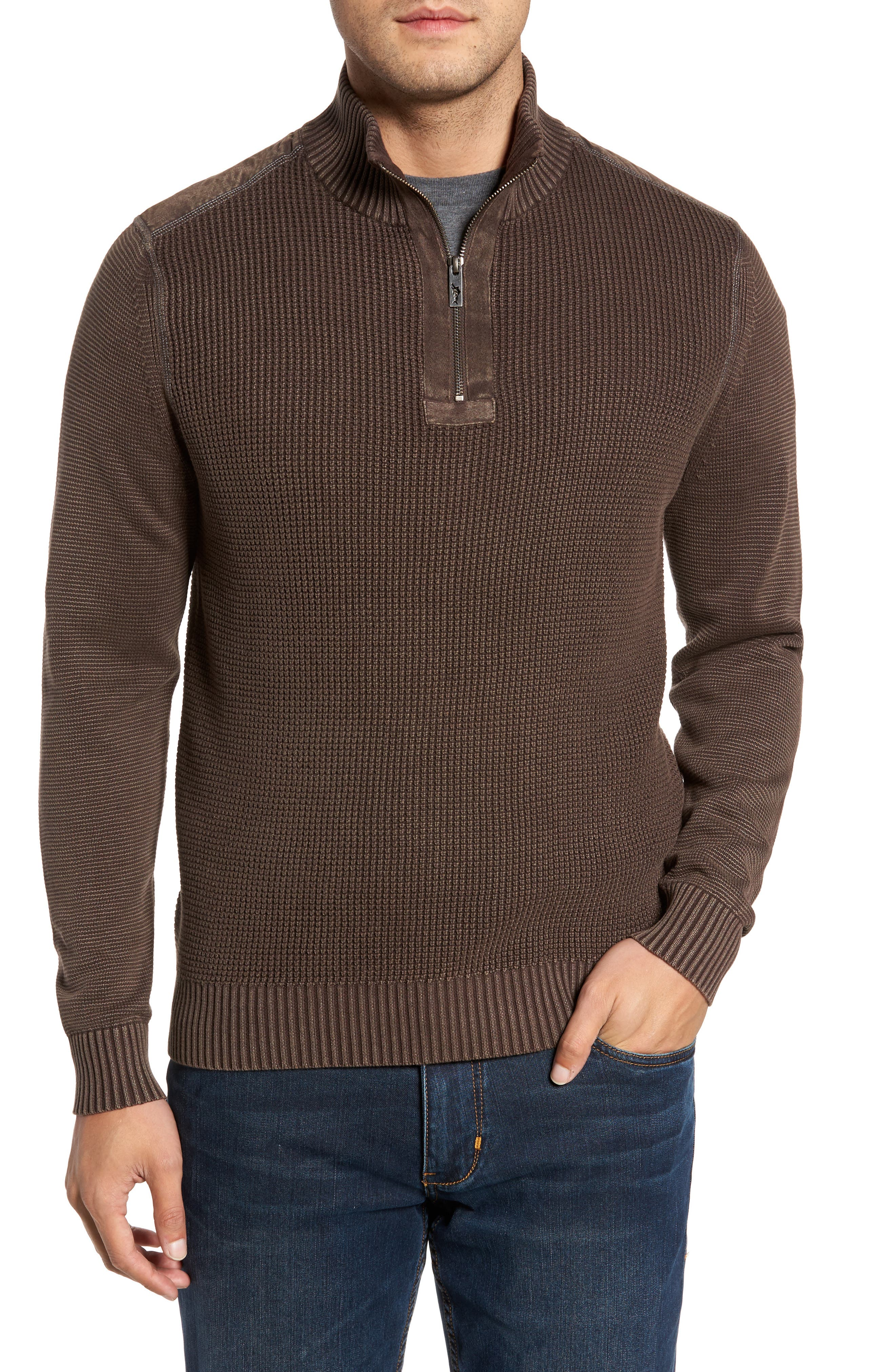 'Coastal Shores' Quarter Zip Sweater,                         Main,                         color, Tilth