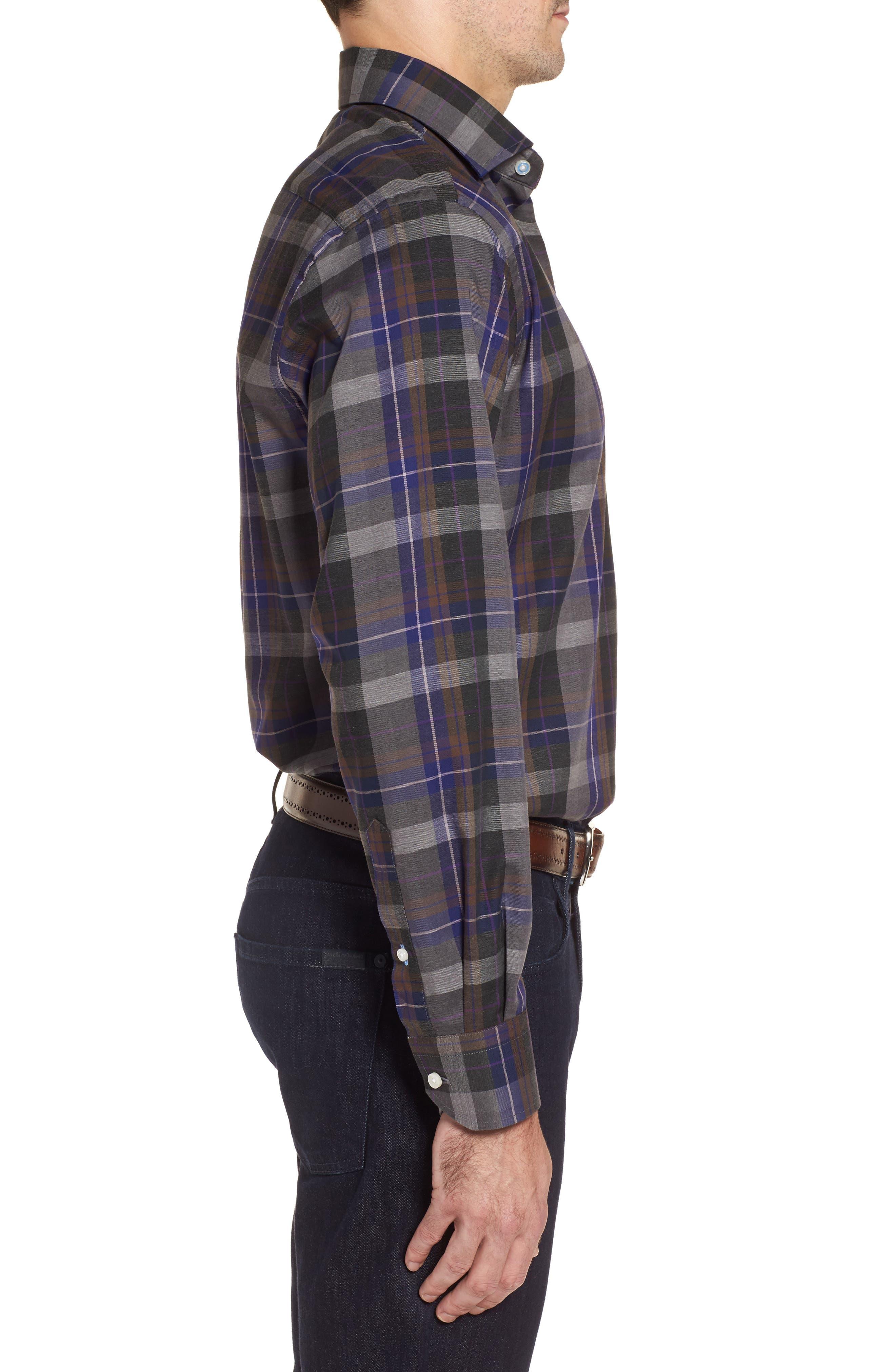 Alternate Image 3  - TailorByrd Cullen Plaid Twill Sport Shirt