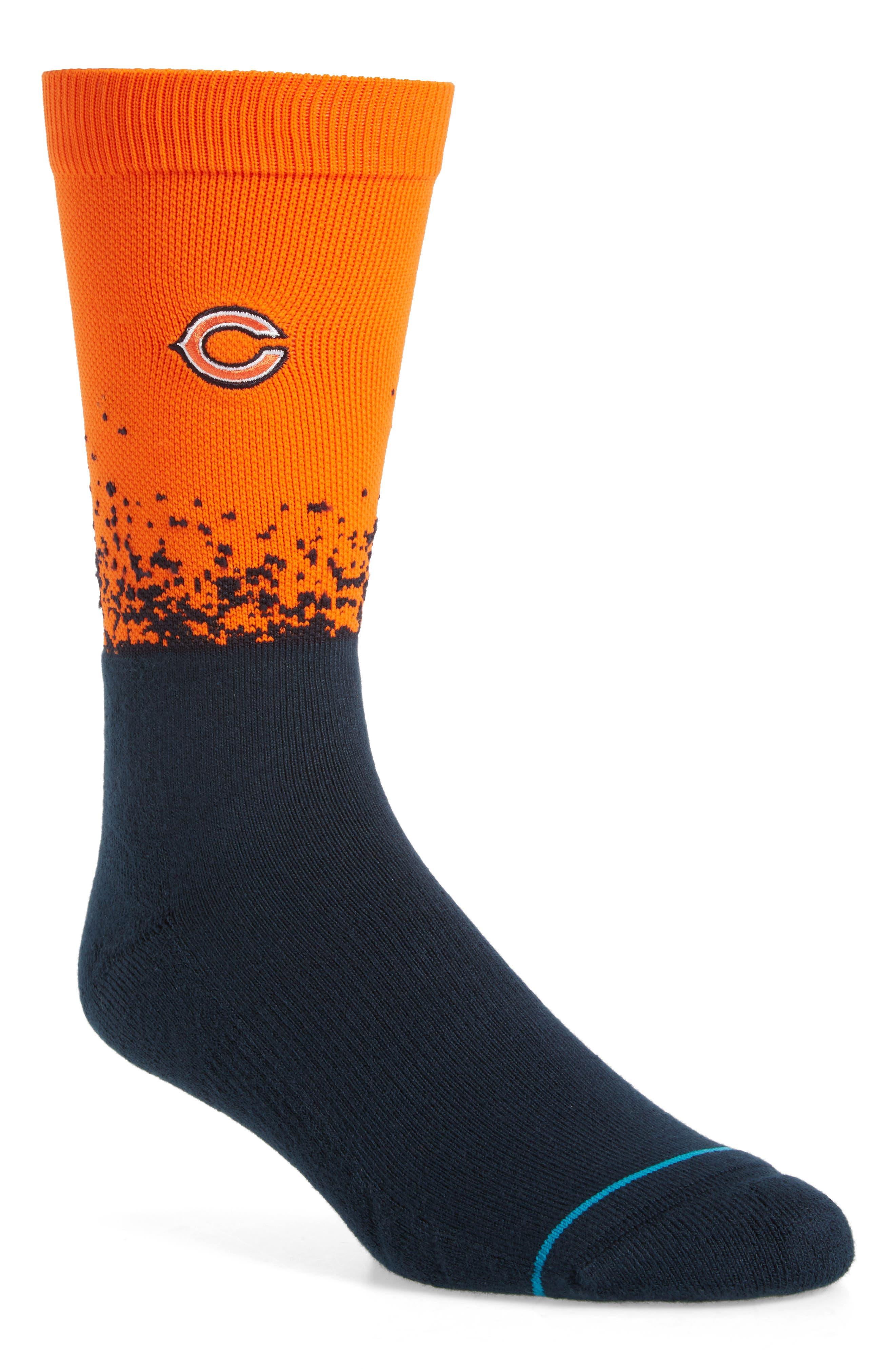 Chicago Bears - Fade Socks,                             Main thumbnail 1, color,                             Orange