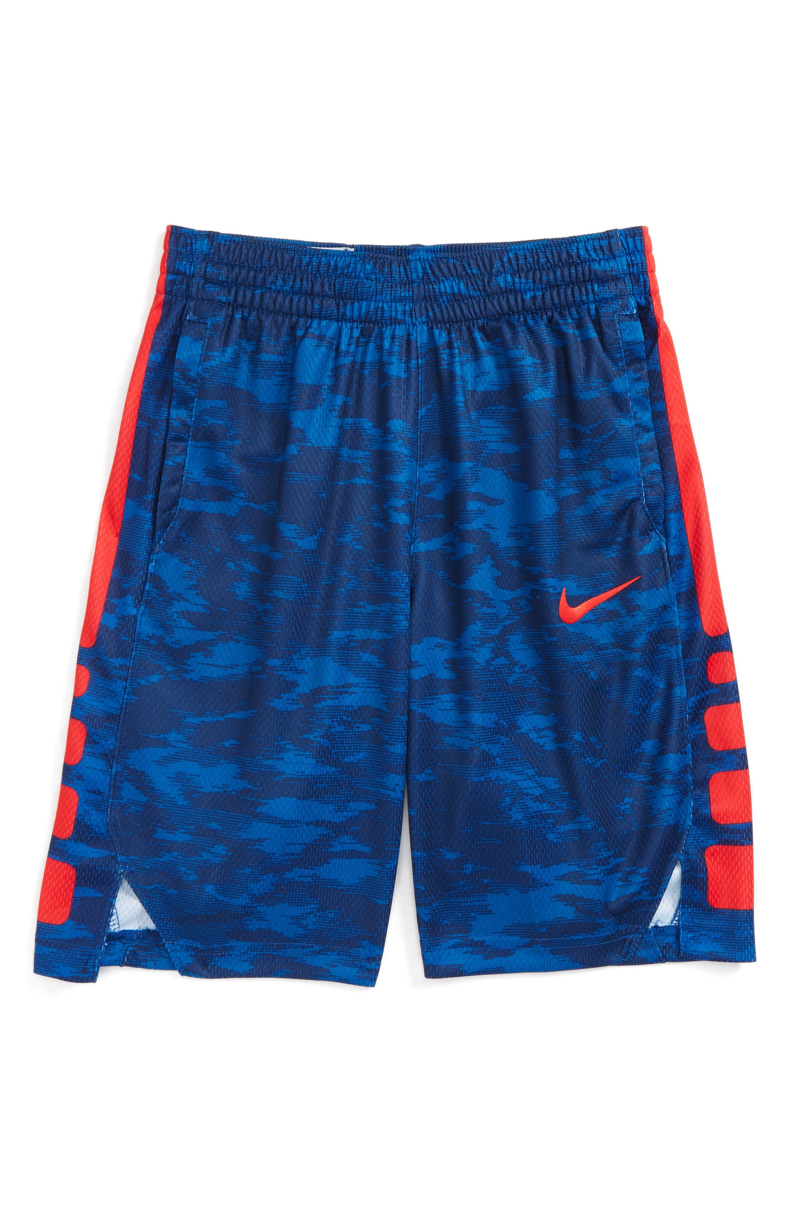 Dry Elite Basketball Shorts,                         Main,                         color, Binybl/ Unvred